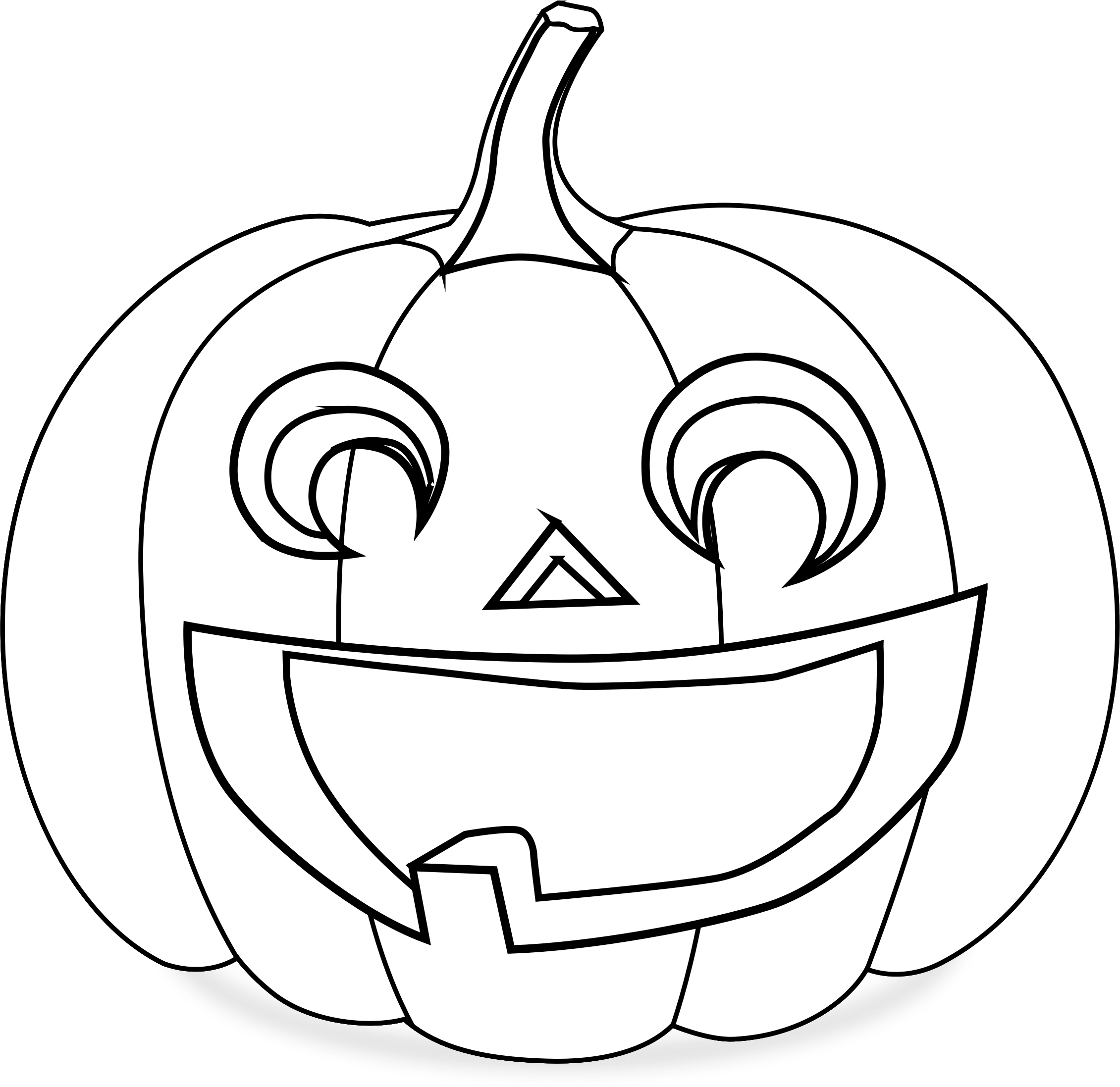 clipart pumpkin coloring page