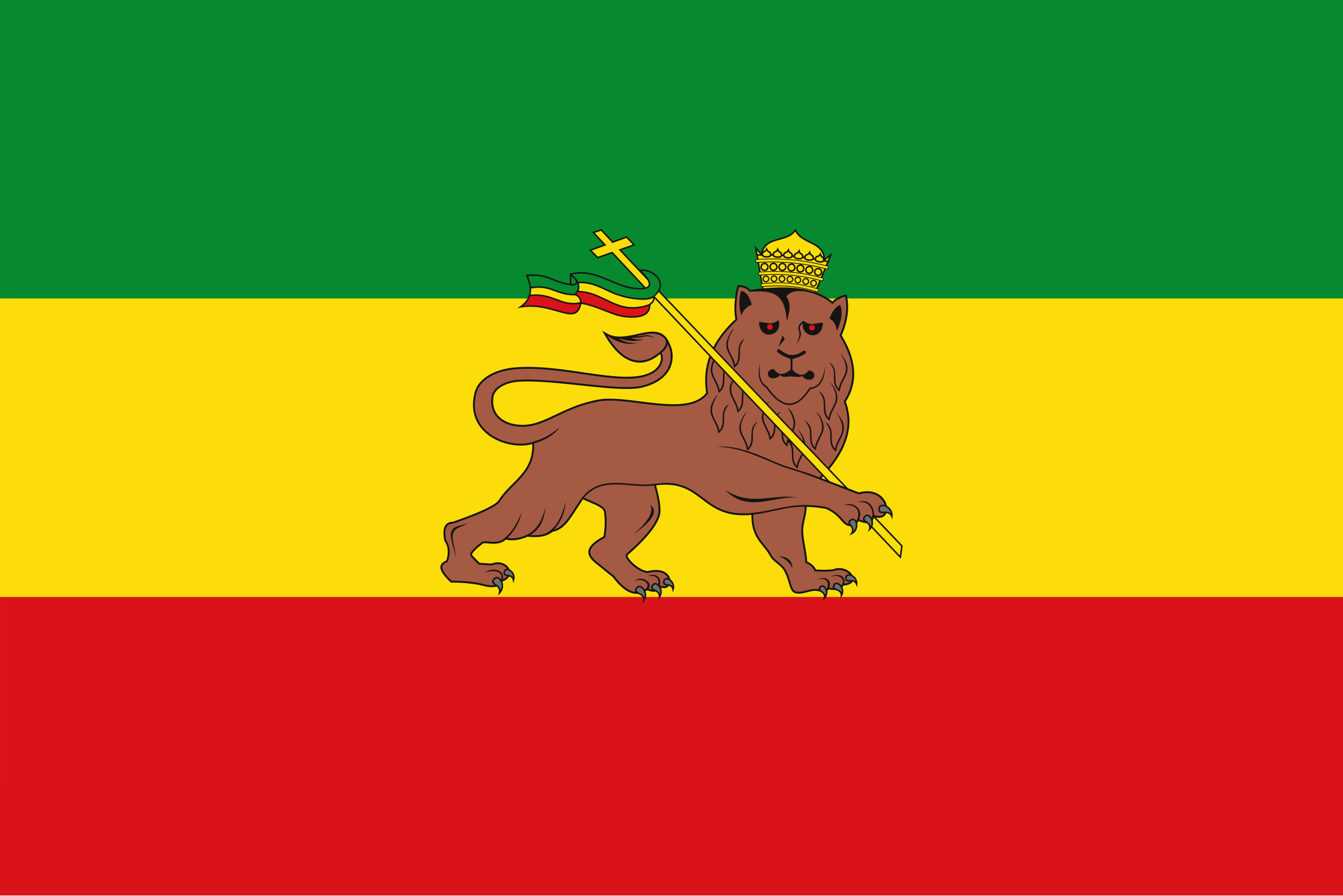 Old Flag of Ethiopia (1897-1974) by j4p4n