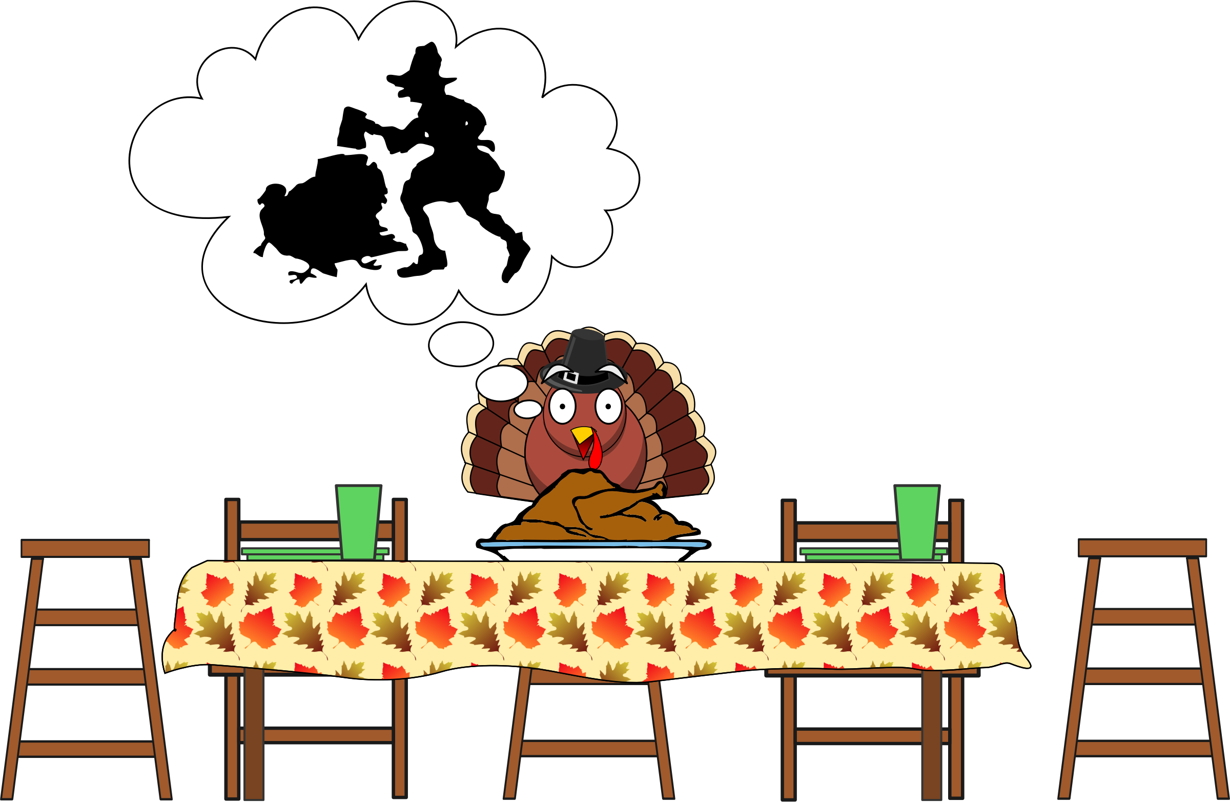 Turkey, Scared Turkey...Happy Thanksgiving by simpletutorials.net