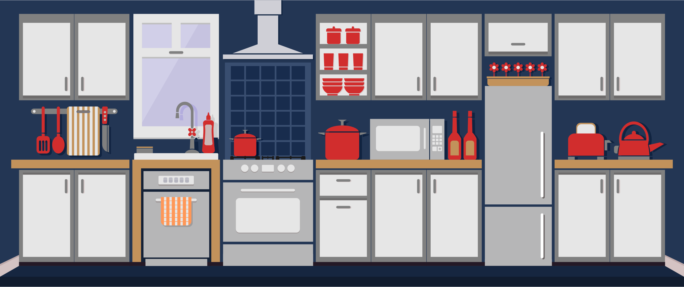 clipart images of kitchens