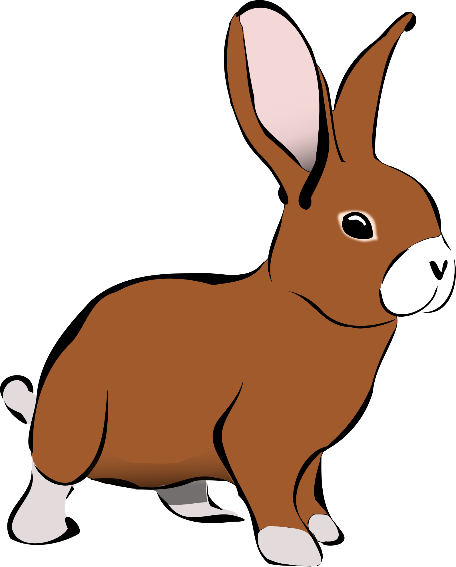 Clipart brown rabbit big image png voltagebd Image collections