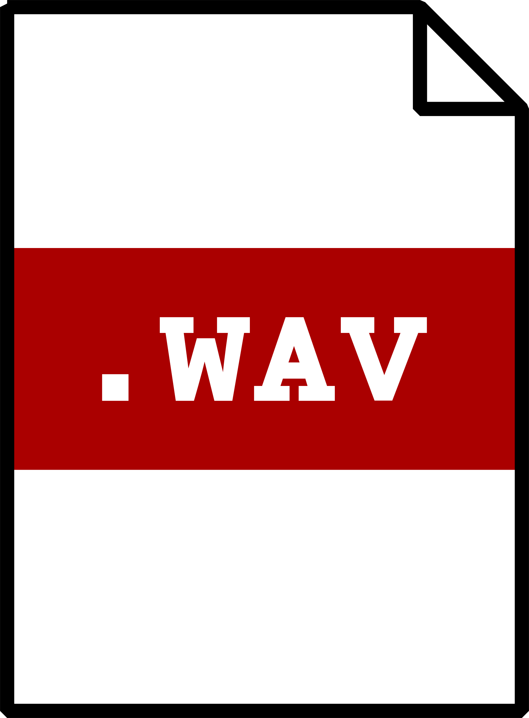 WAV icon by ousia