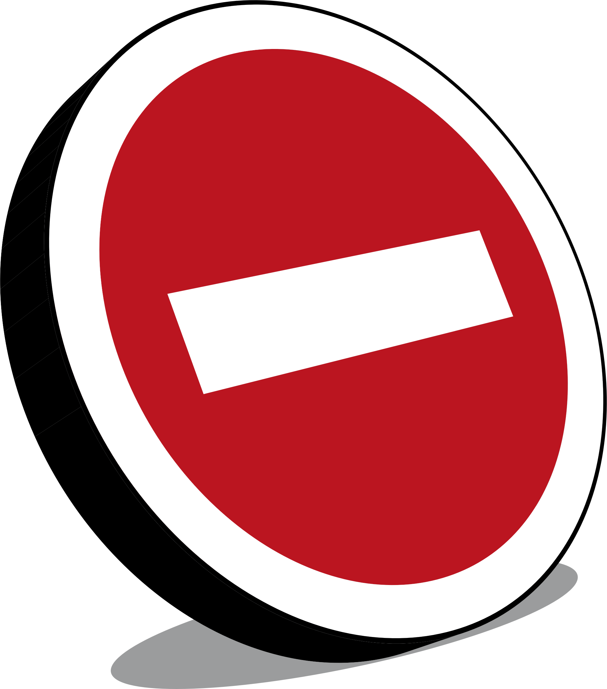 No entry sign, Panneau sens interdit by enolynn