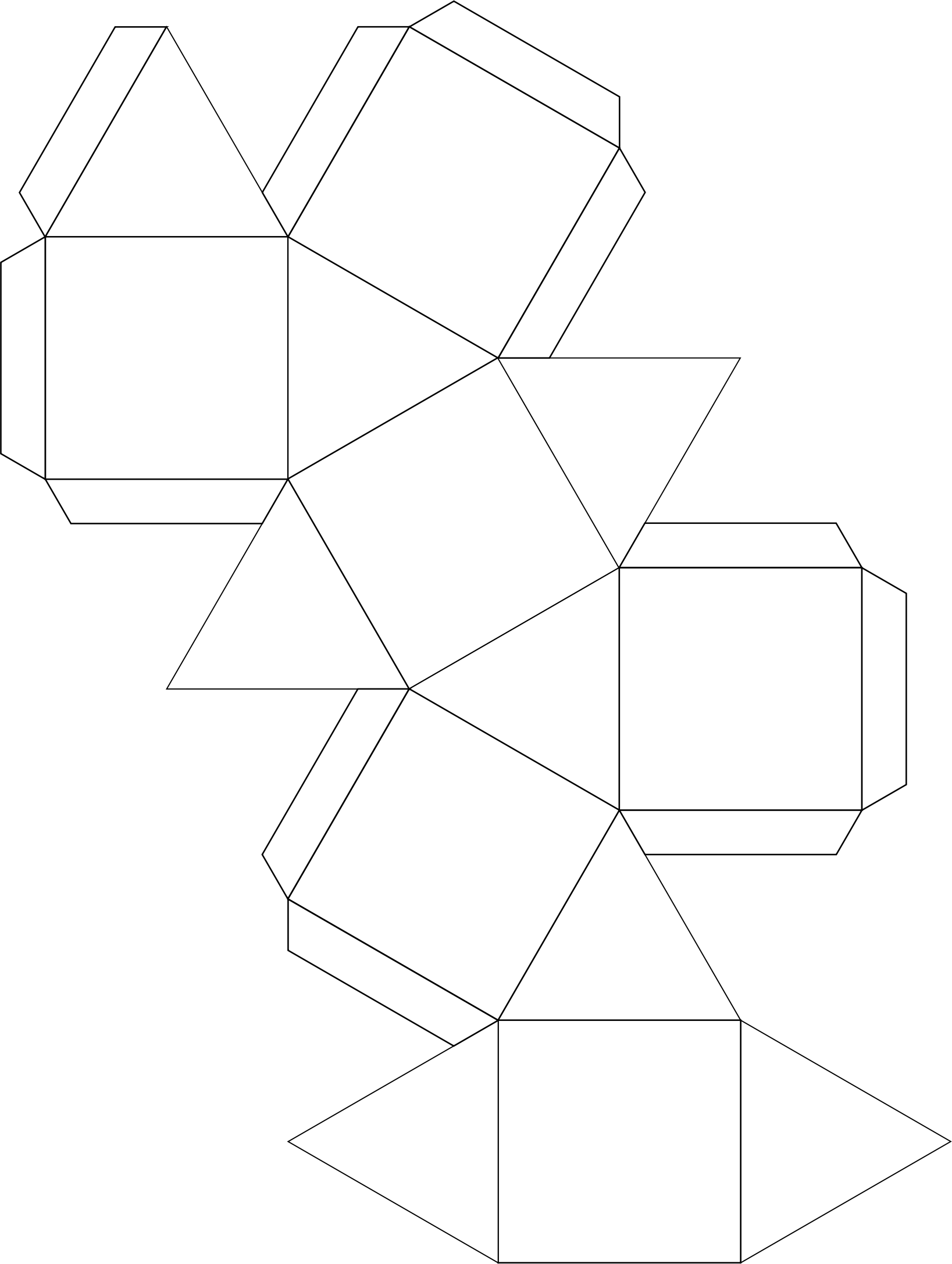 Cubocdehedron for Coloring (Ornament) by rejon