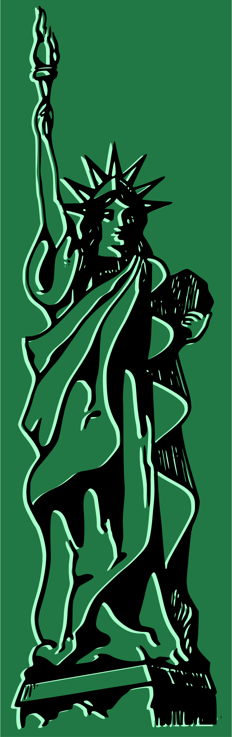 Green Statue of Liberty by j4p4n
