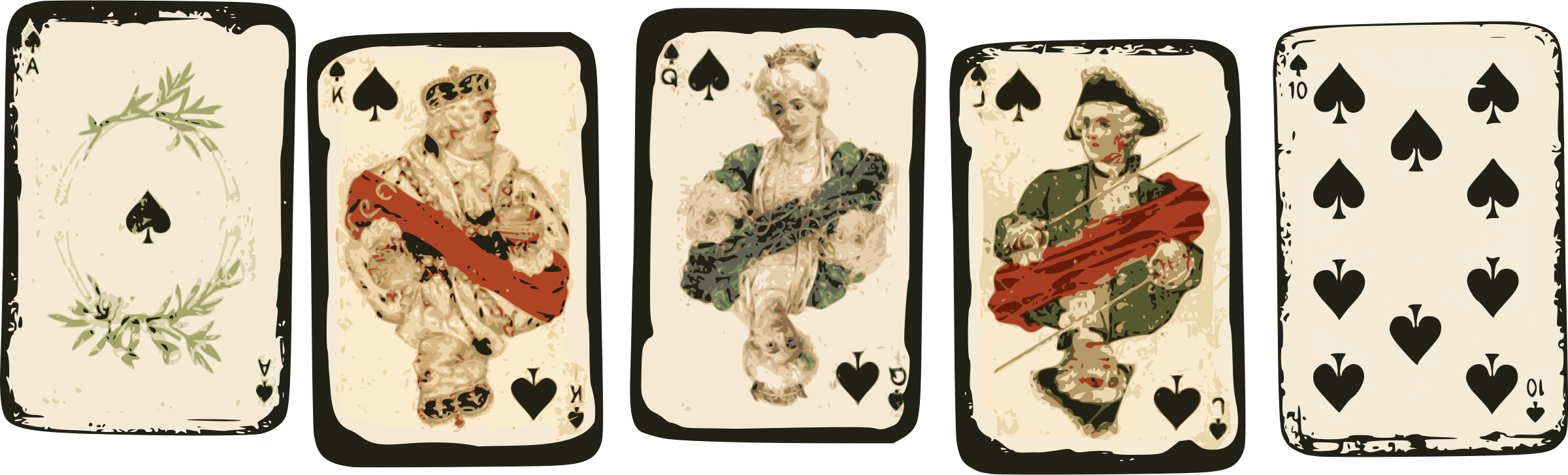 Royal Flush - Poker Cards by j4p4n