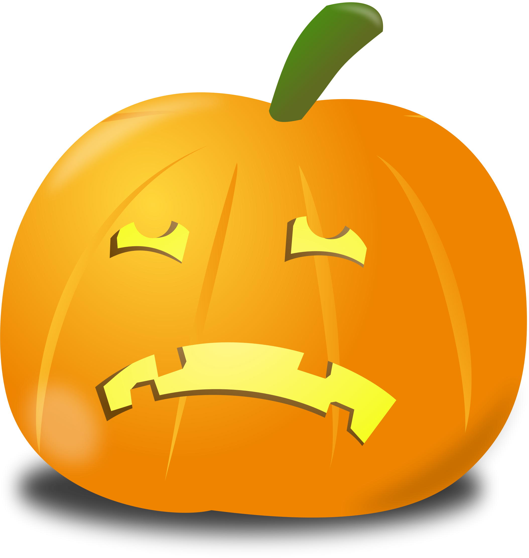 Sad pumpkin by nicubunu