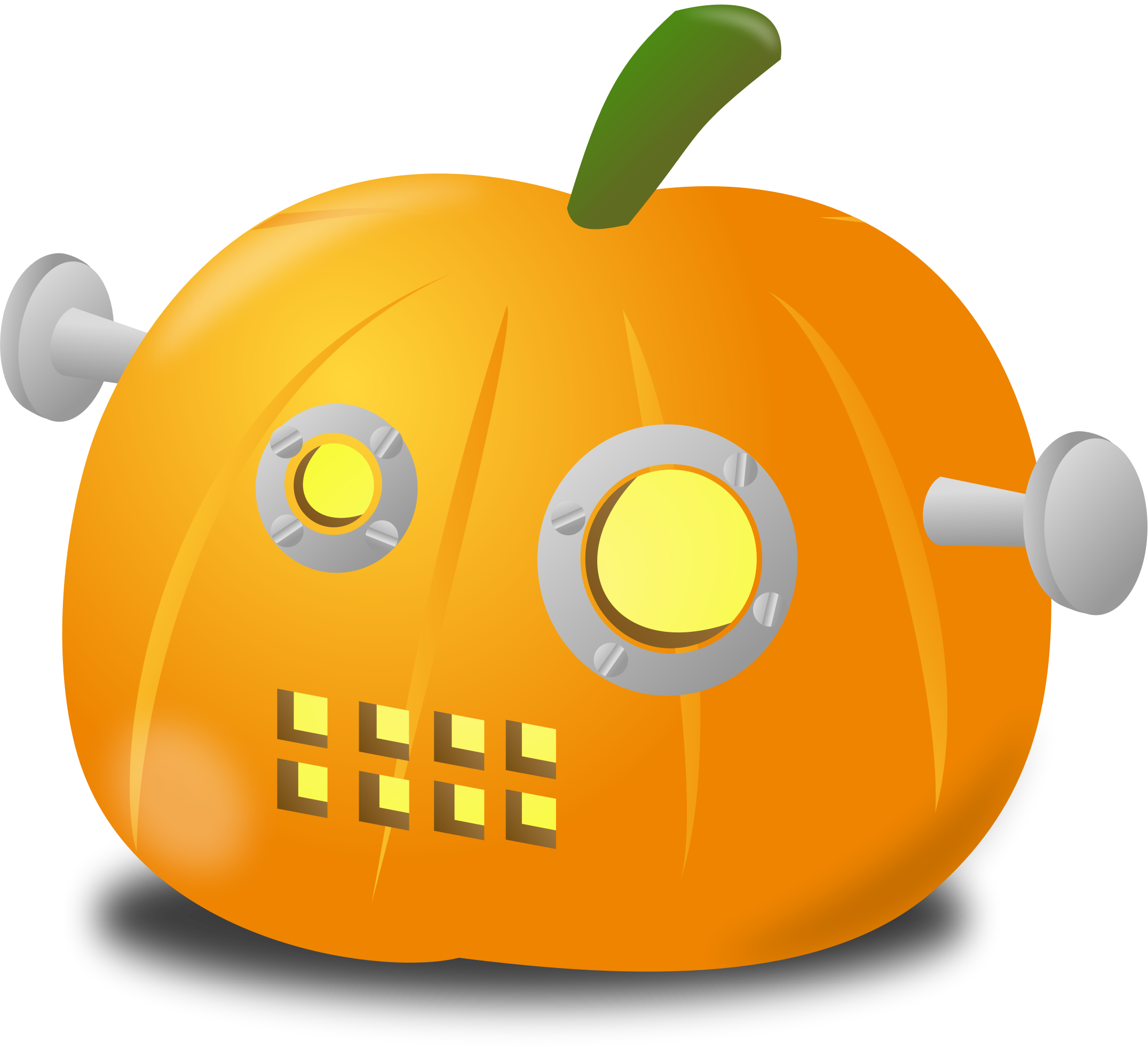Robot pumpkin by nicubunu