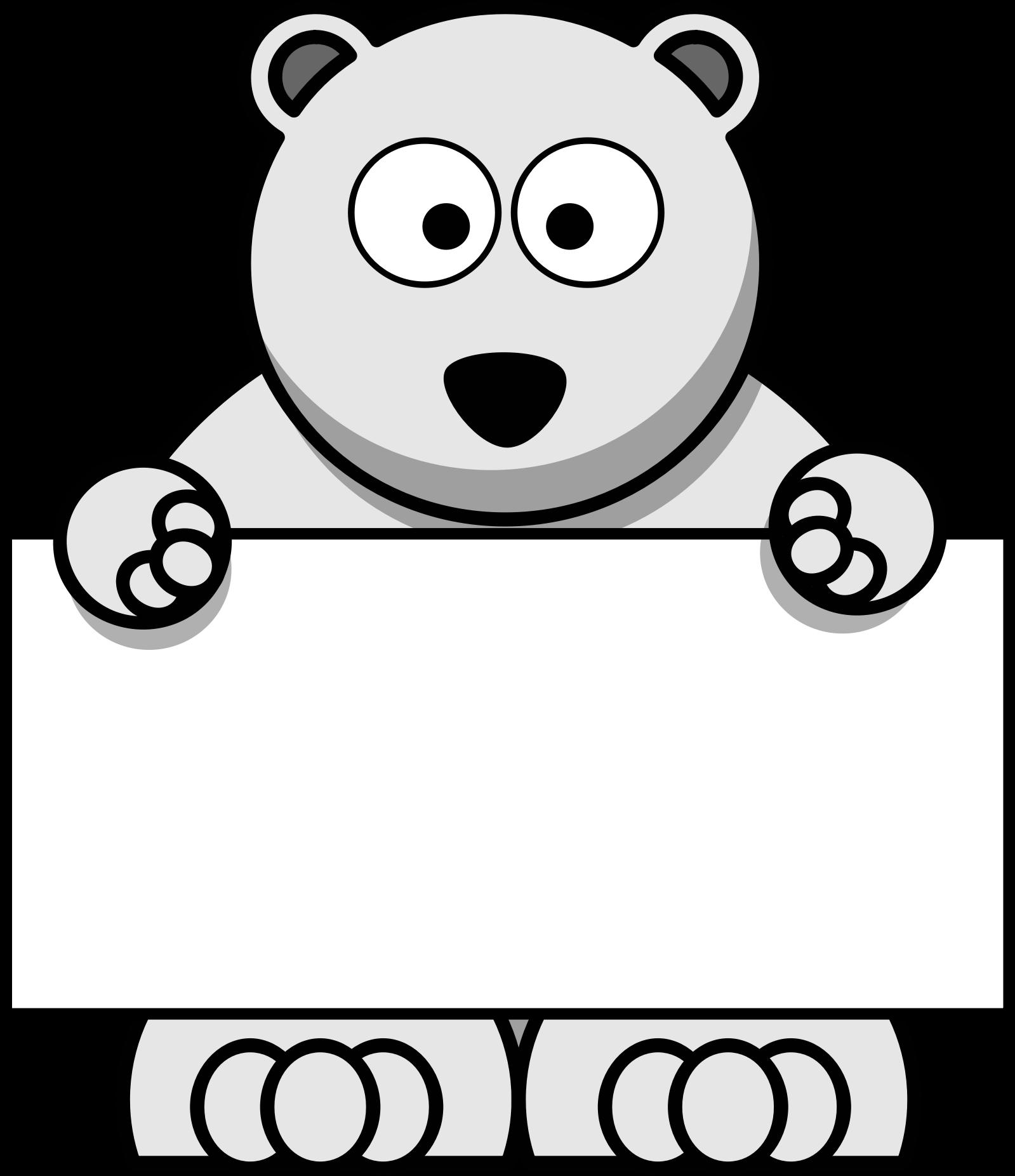 clipart sign holding polar bear Cute Polar Bear Clip Art free polar bear clip art border