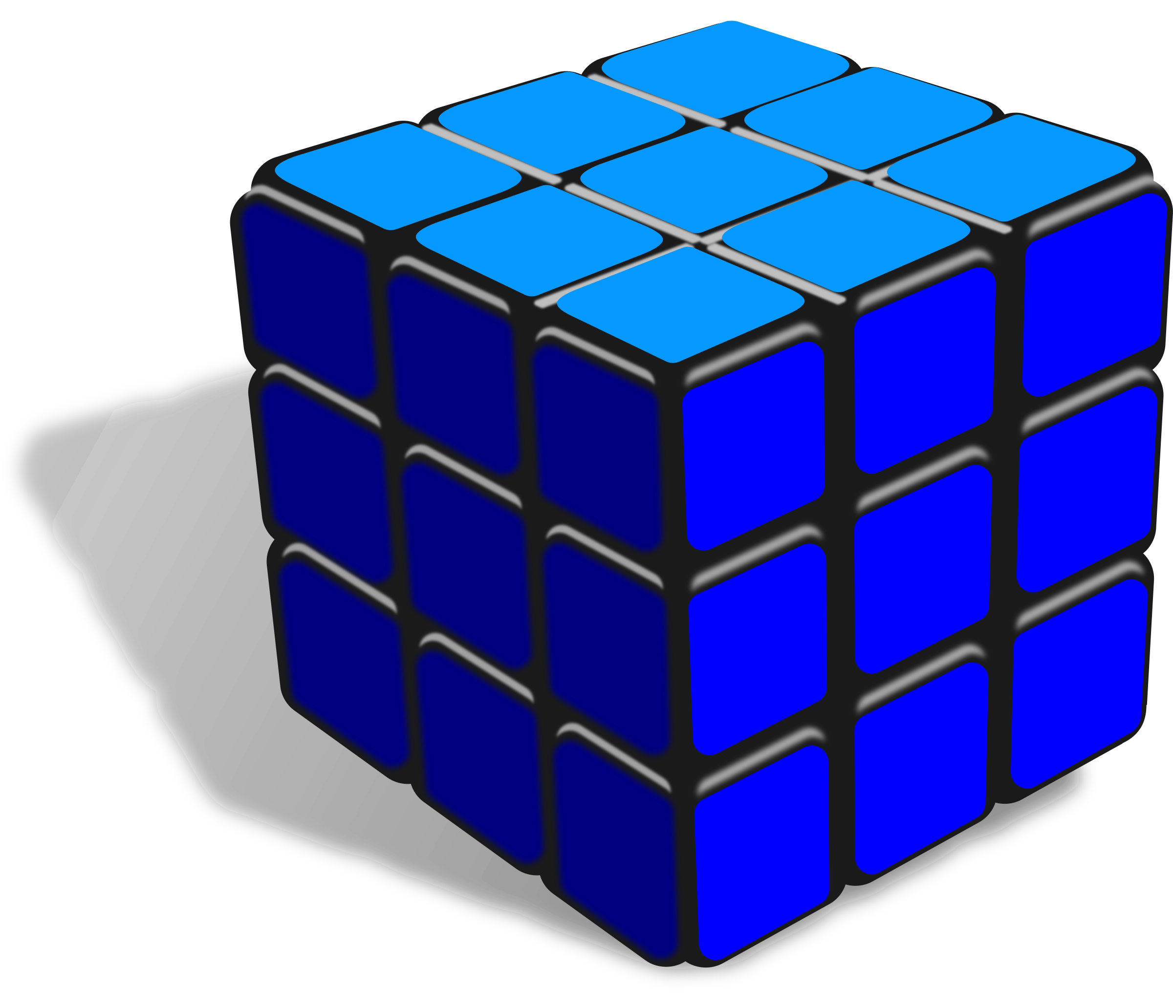 Cube one color by Keistutis
