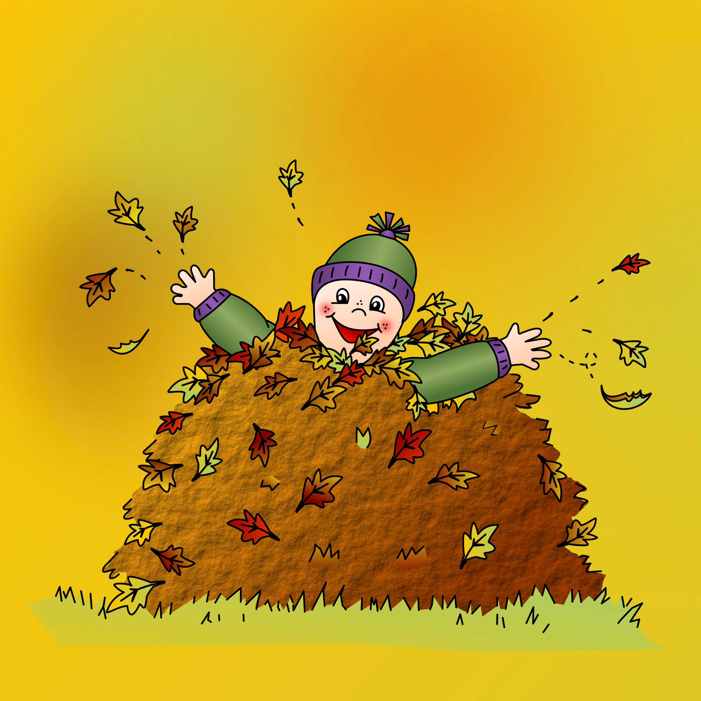 Colored: Leaf pile by nicubunu