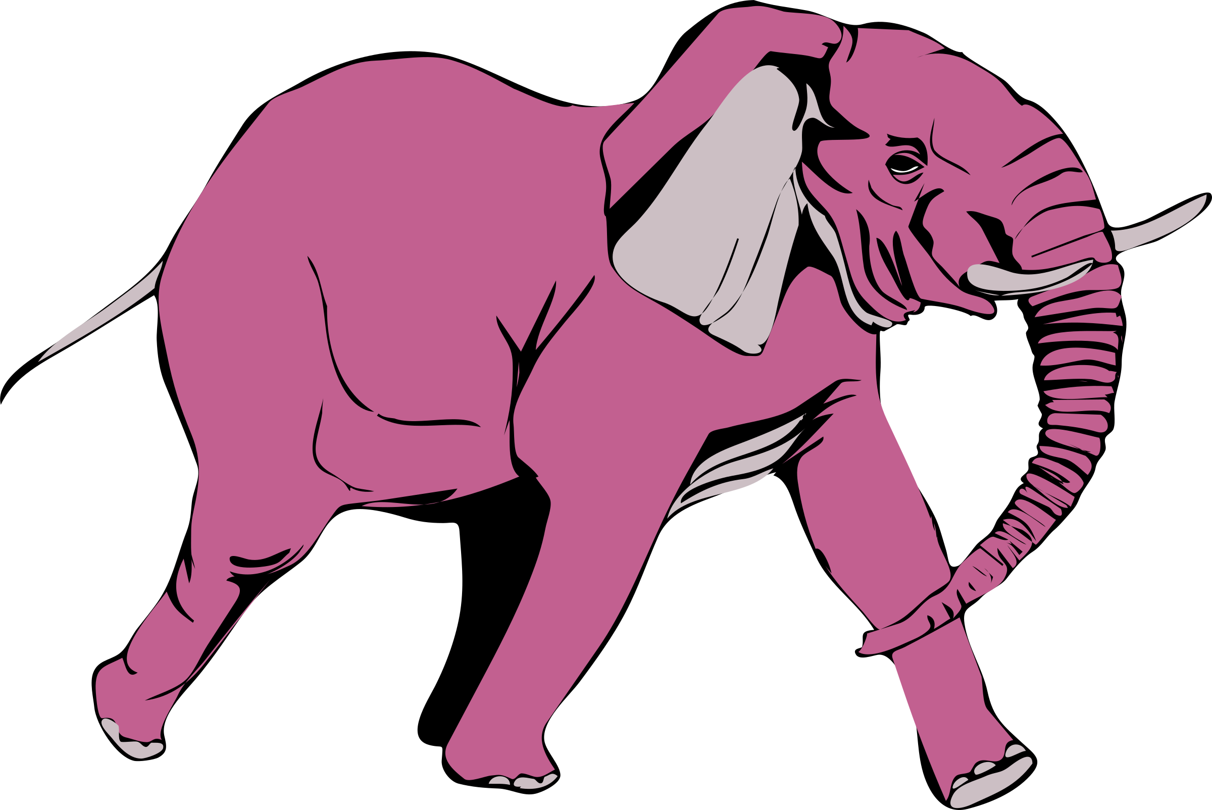 Pink elephant on the rampage by anarres