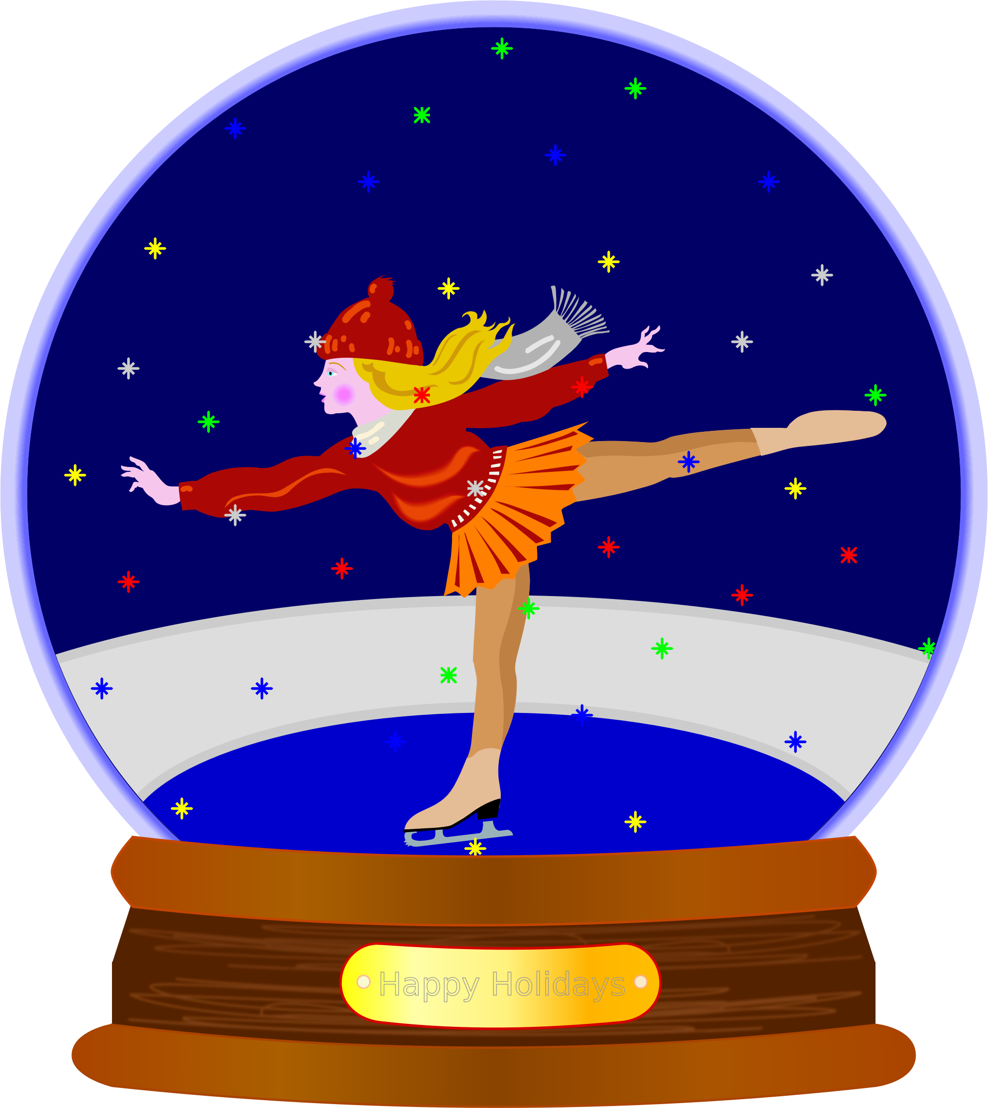 Animated Colored Snow Globe by JayNick