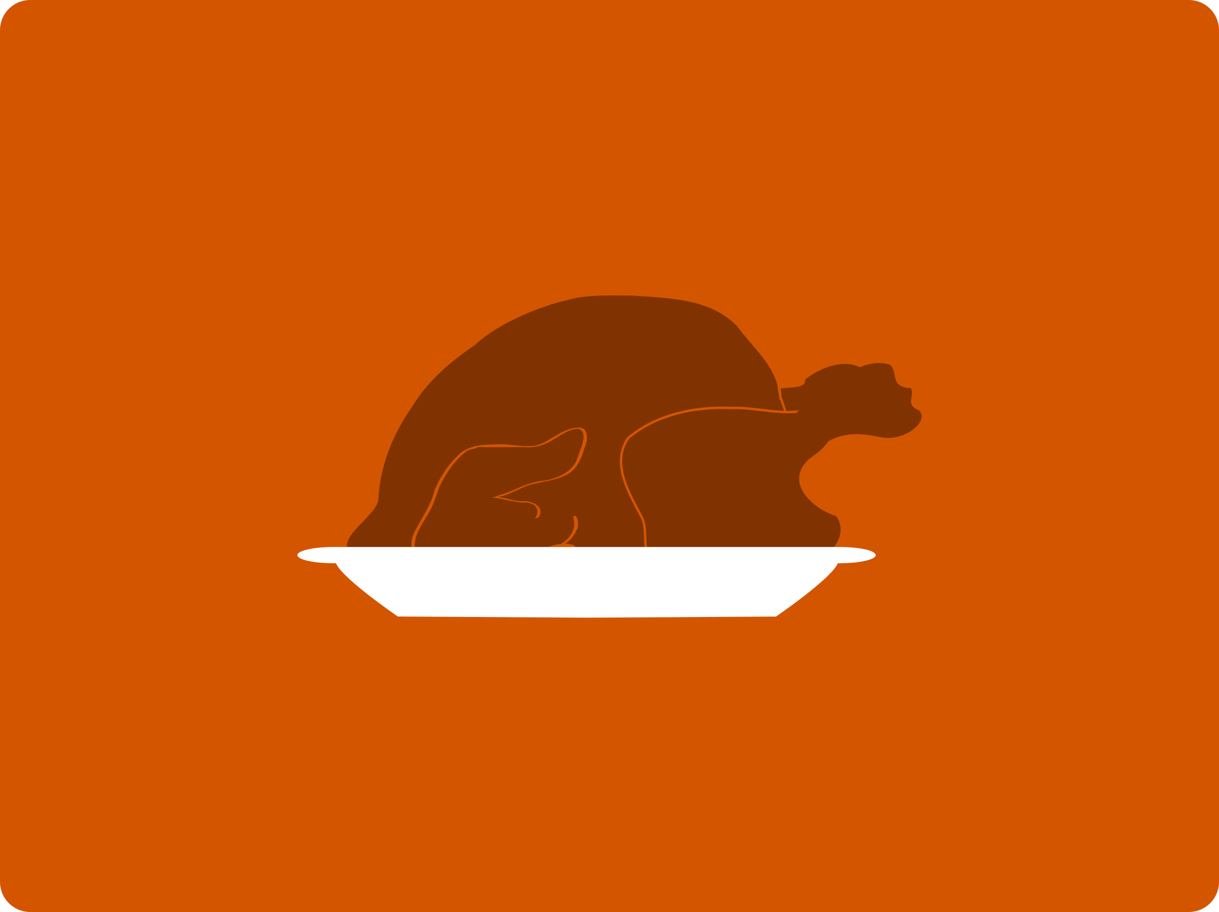 Turkey Platter Minimal by ephemeralwaves