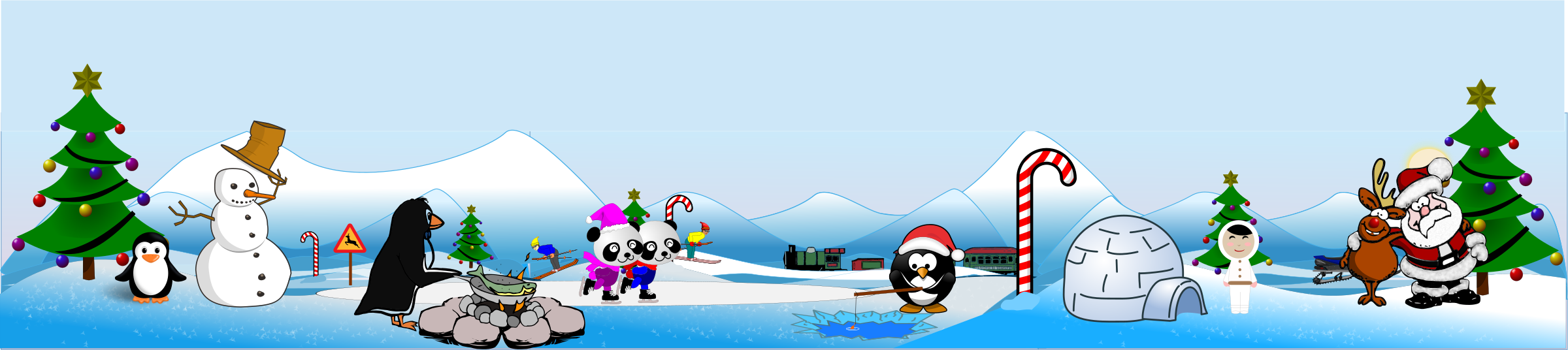 Artic North Pole Scene and Action View by doodler