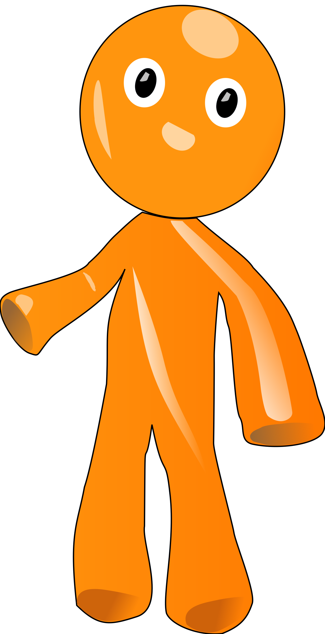 Clipart - gingerbread man