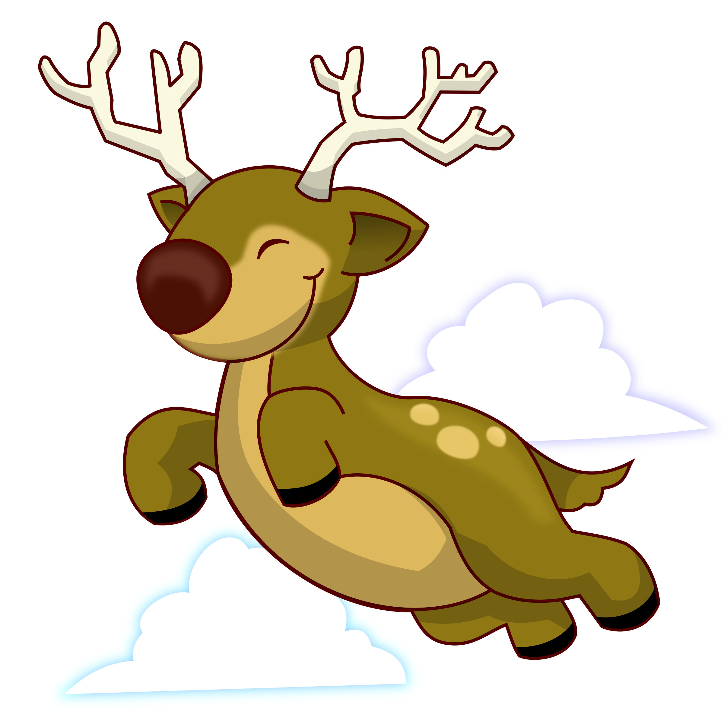 Clipart - Flying Reindeer