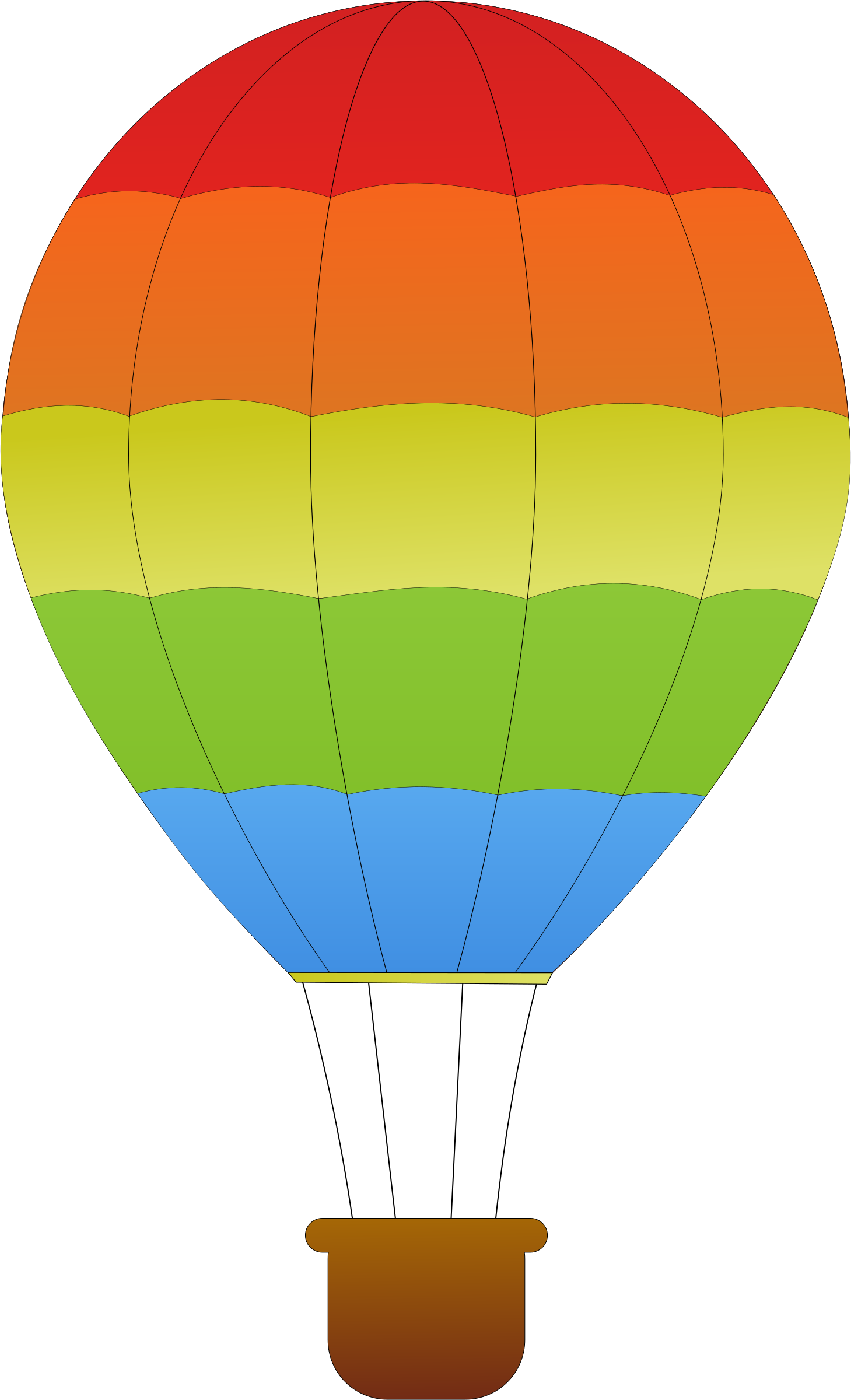 Horizontal Striped Hot Air Balloons by maidis