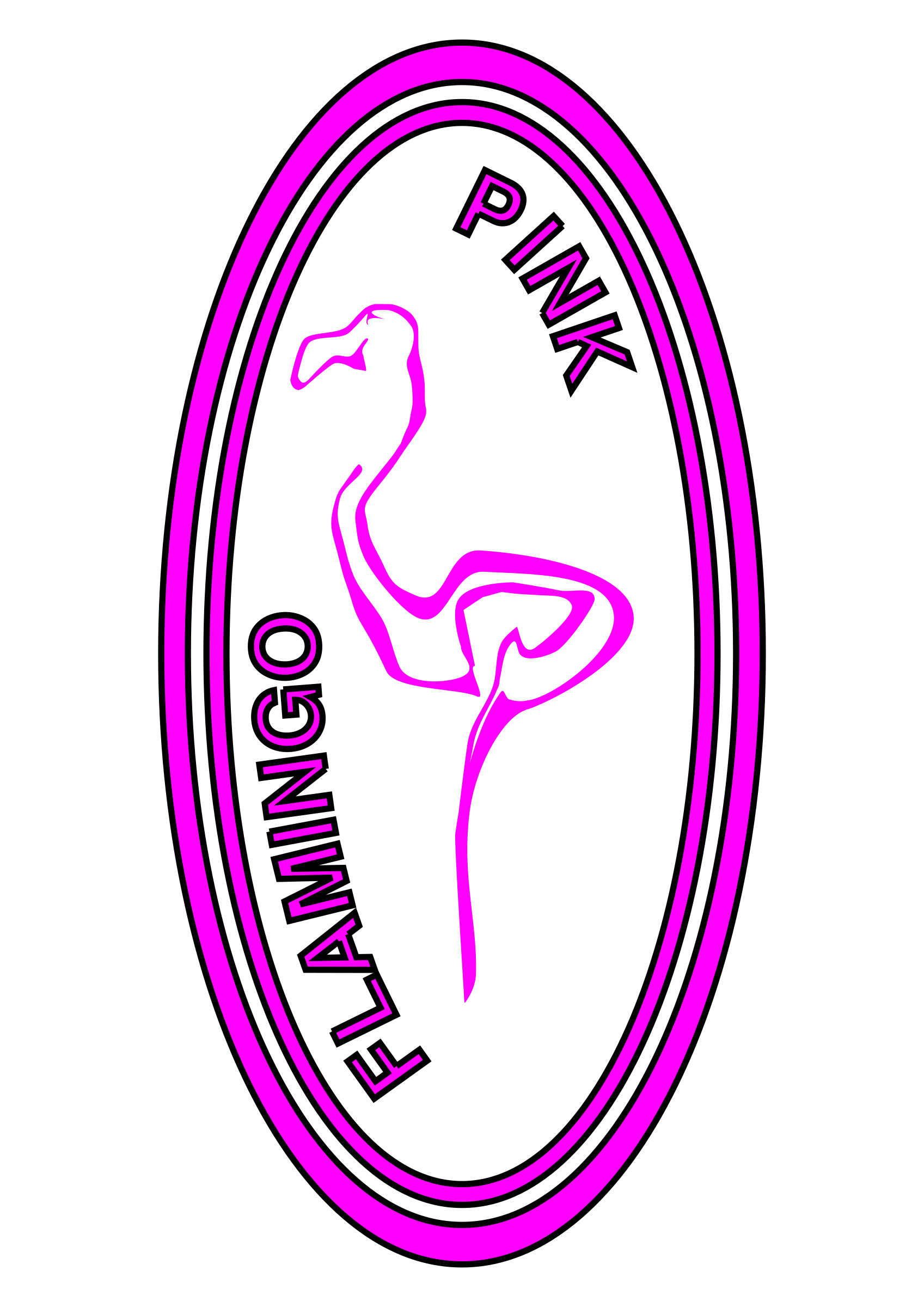 Pink Flamingo by Dux Phoenix