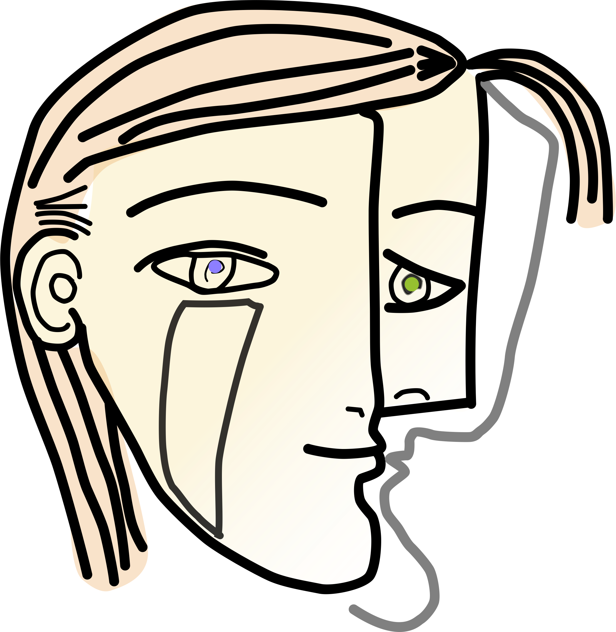 Cubist Woman Head by jliard