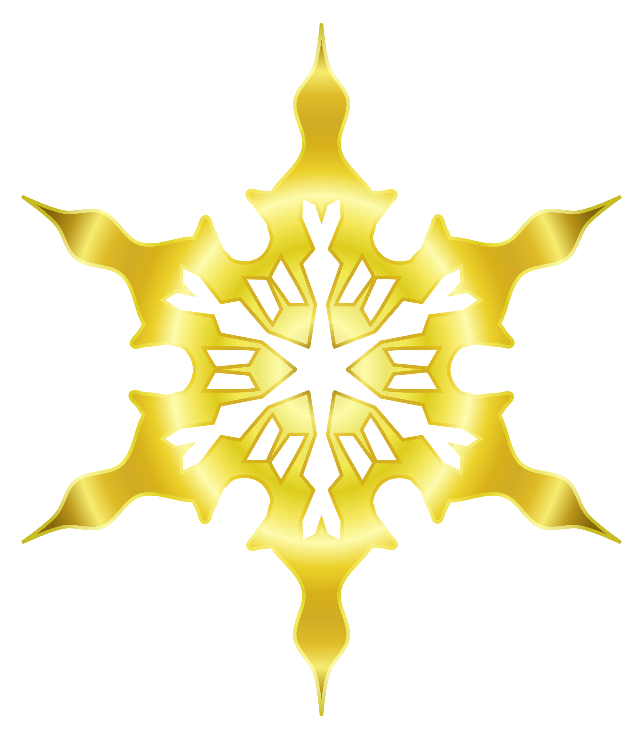 Snowflake 8 (gold) by Arvin61r58
