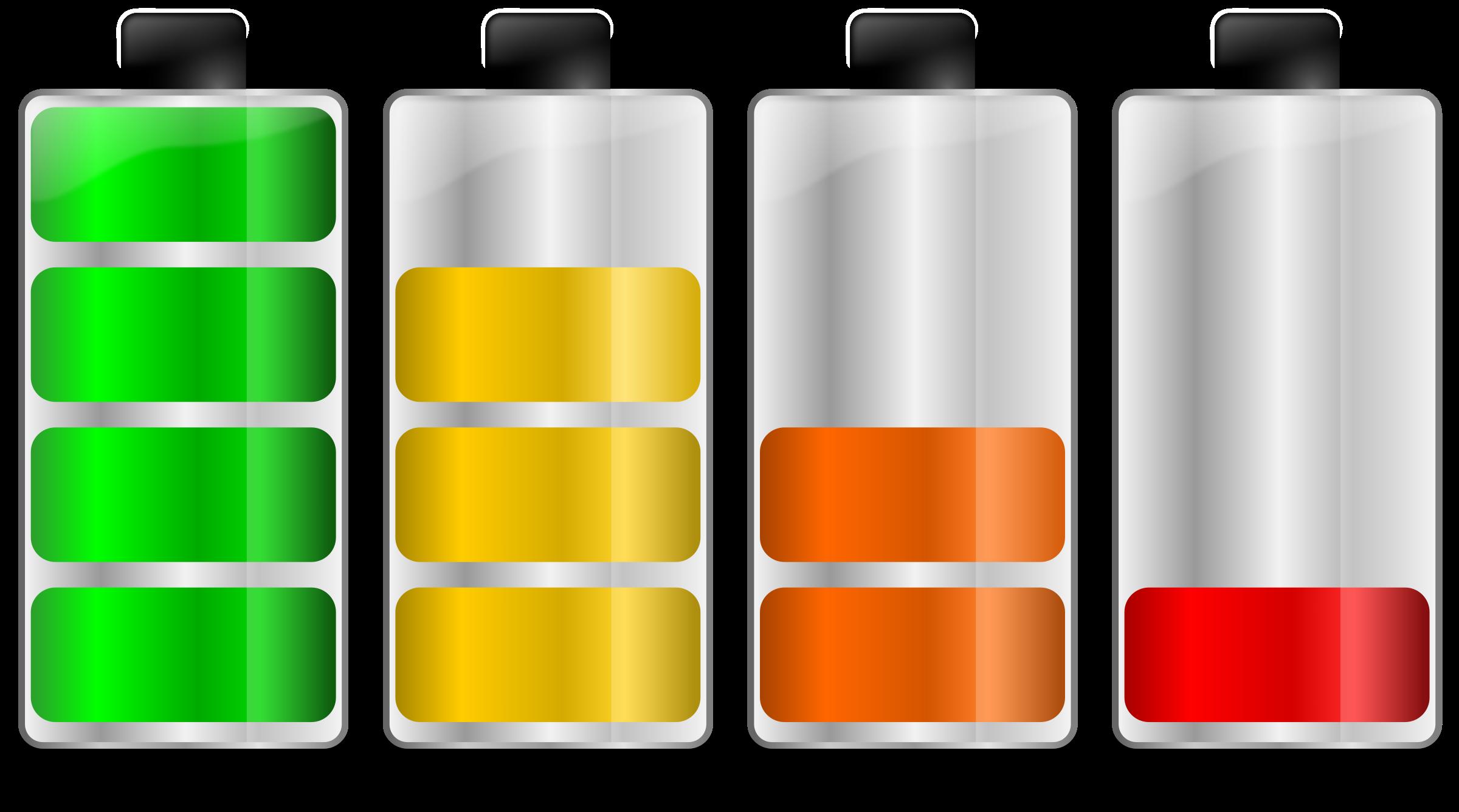 Used Car Batteries >> Clipart - Battery levels. Niveles de carga de batería