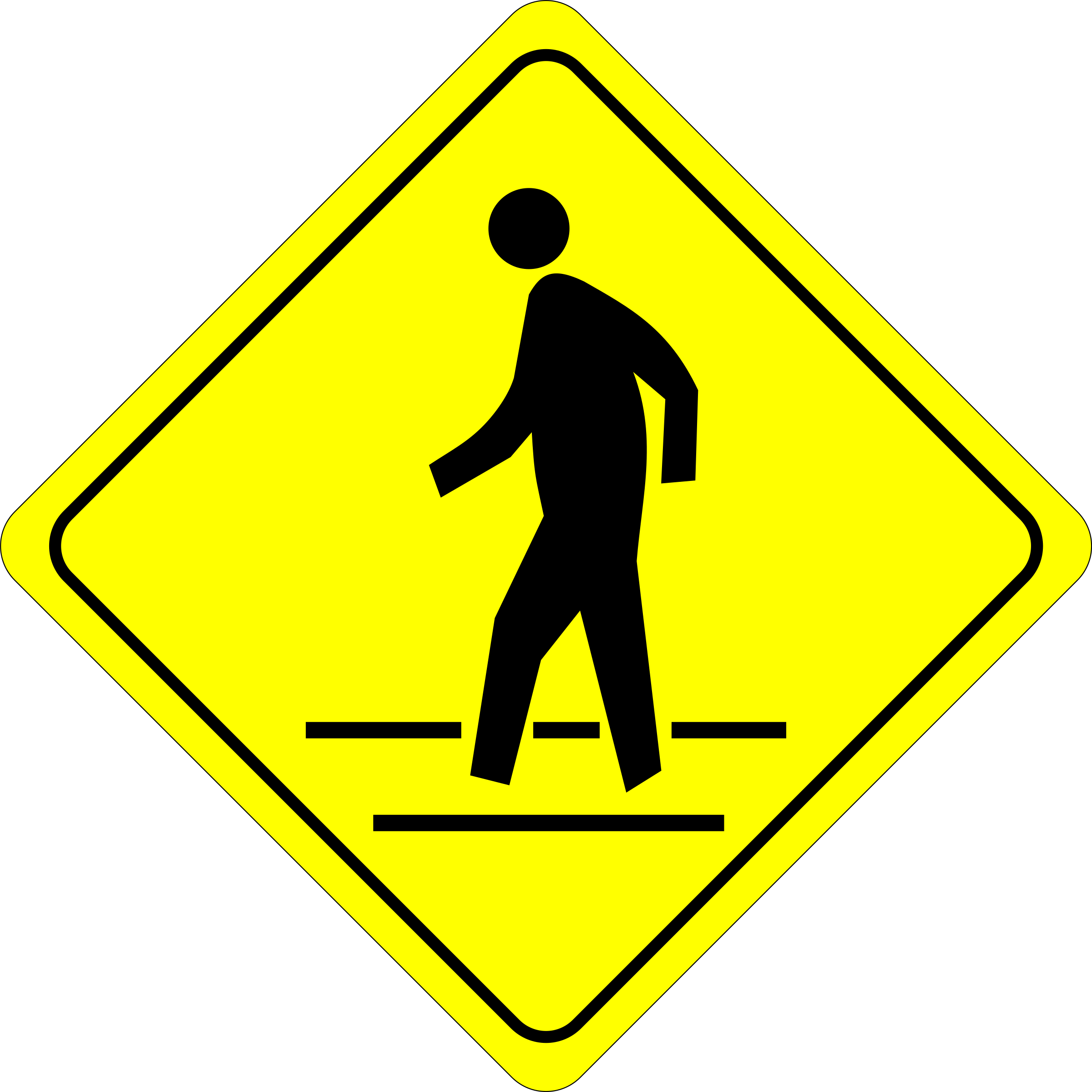Caution - Pedestrian Crossing by algotruneman