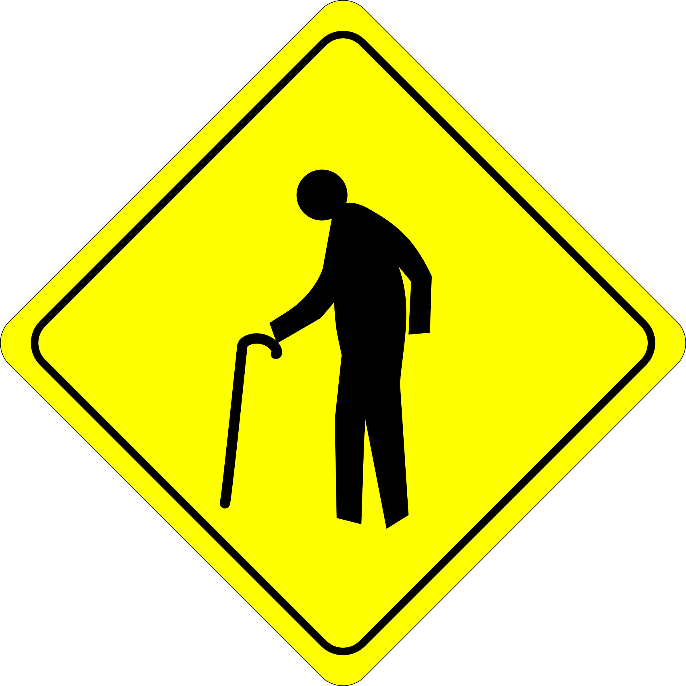 Caution - Old Dude Crossing by algotruneman