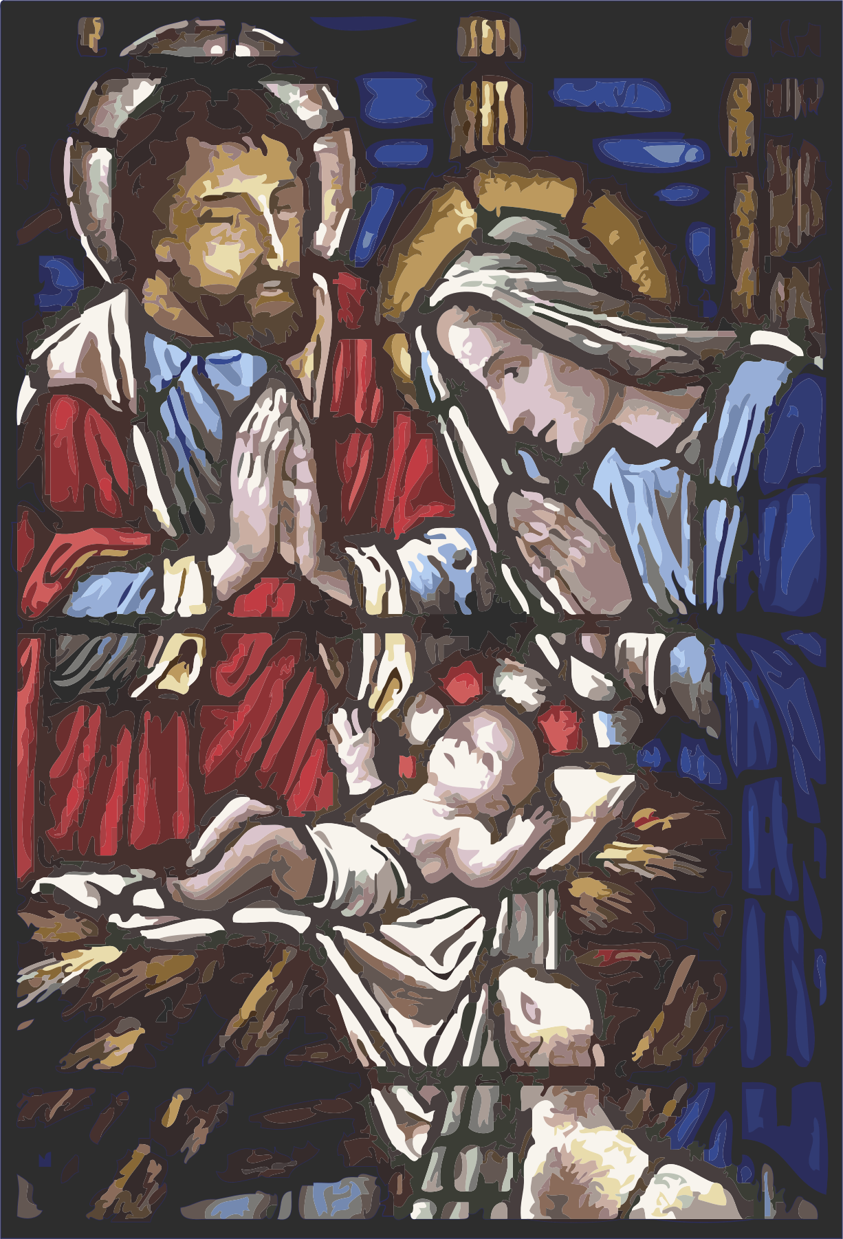 Holy Family in Stained Glass by bnsonger47