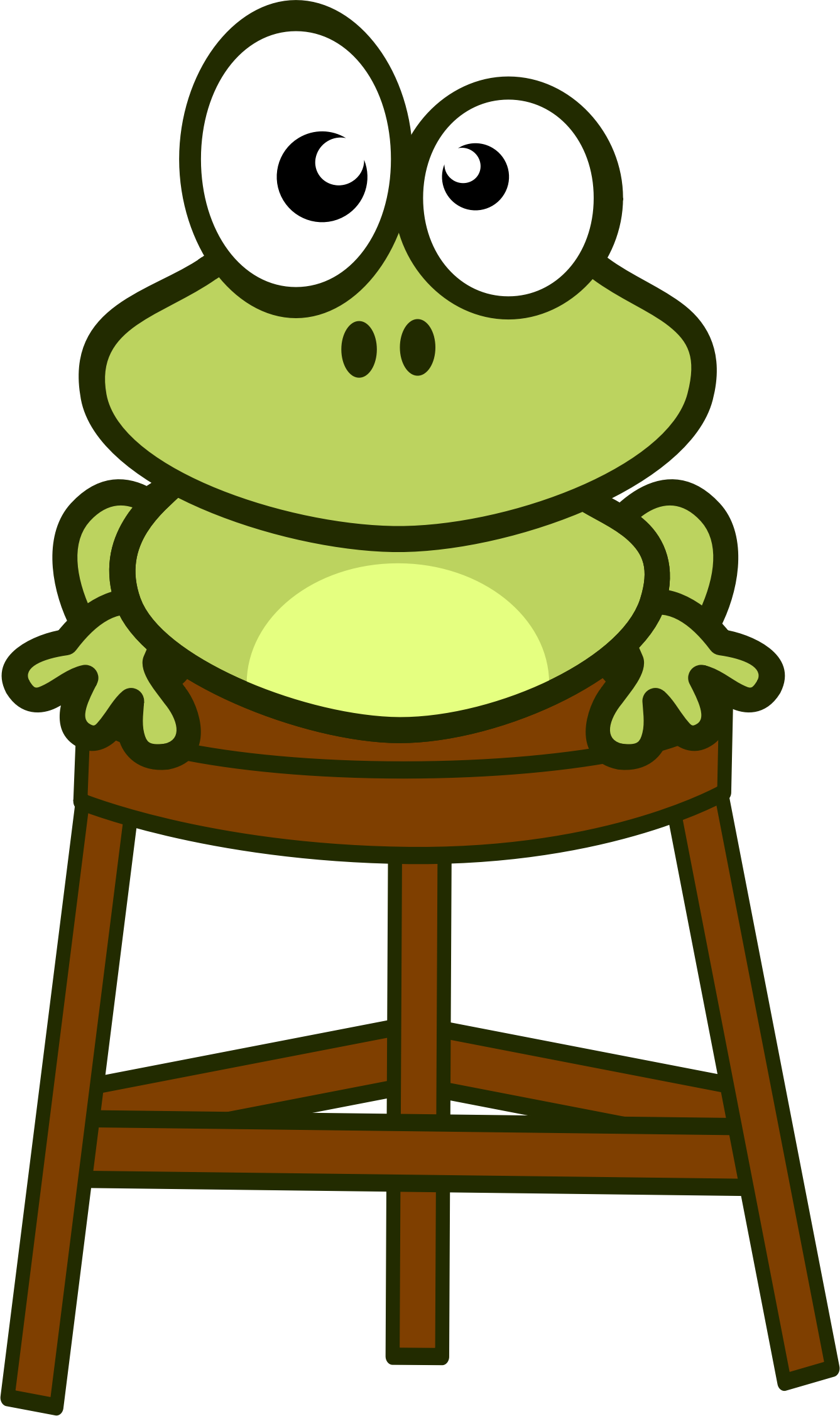 frog on stool by ruthirsty