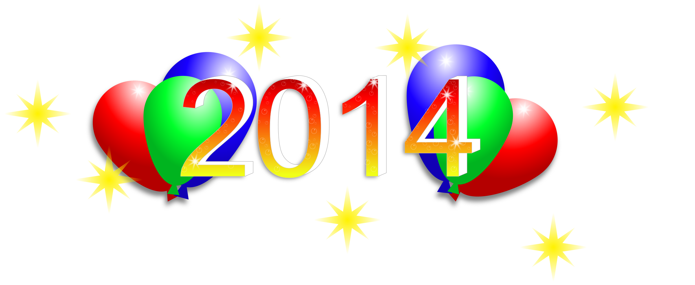 Happy New Year 2014 by cyberscooty