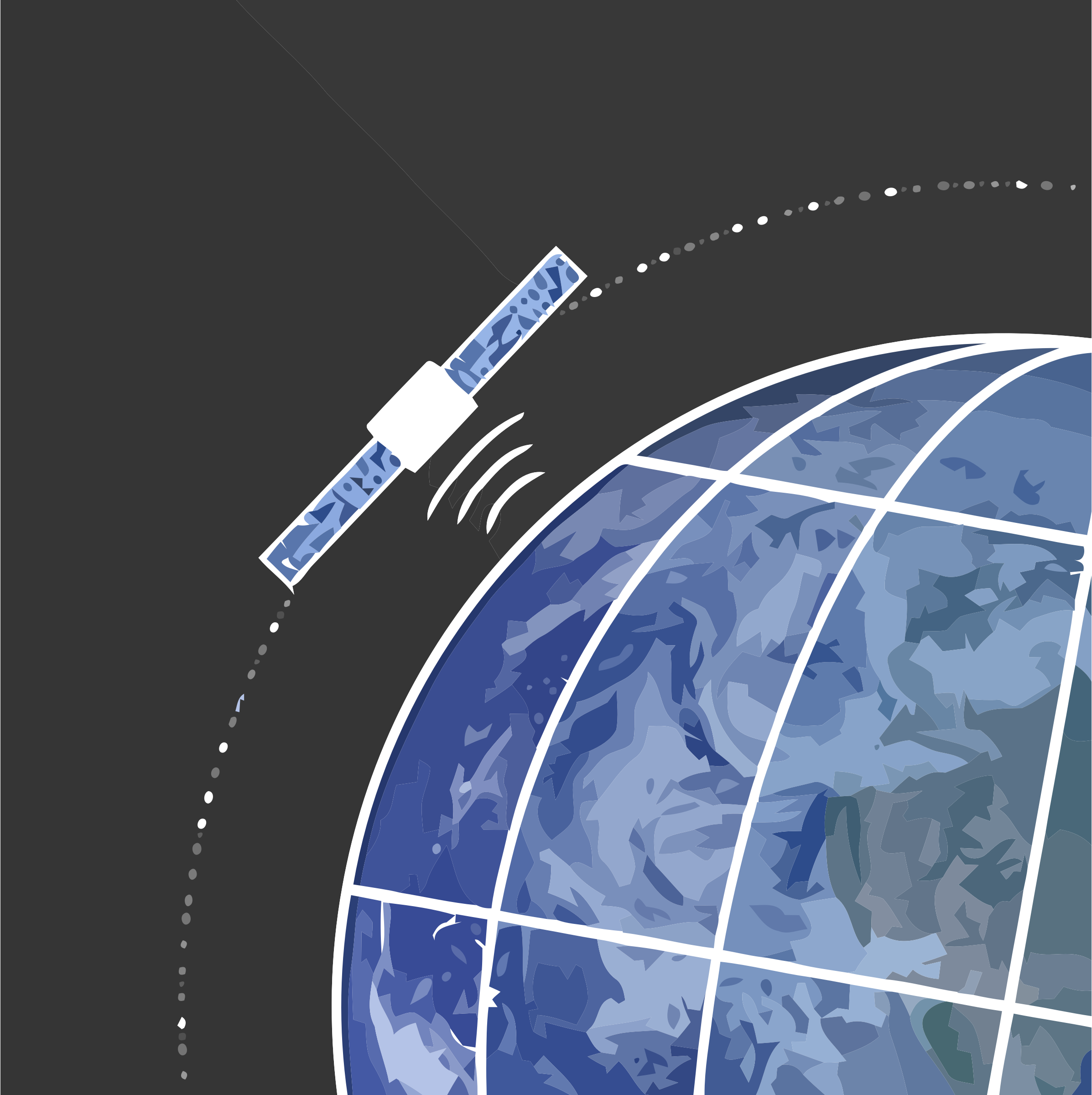 Satellite Orbiting Earth SVG by unsalted38