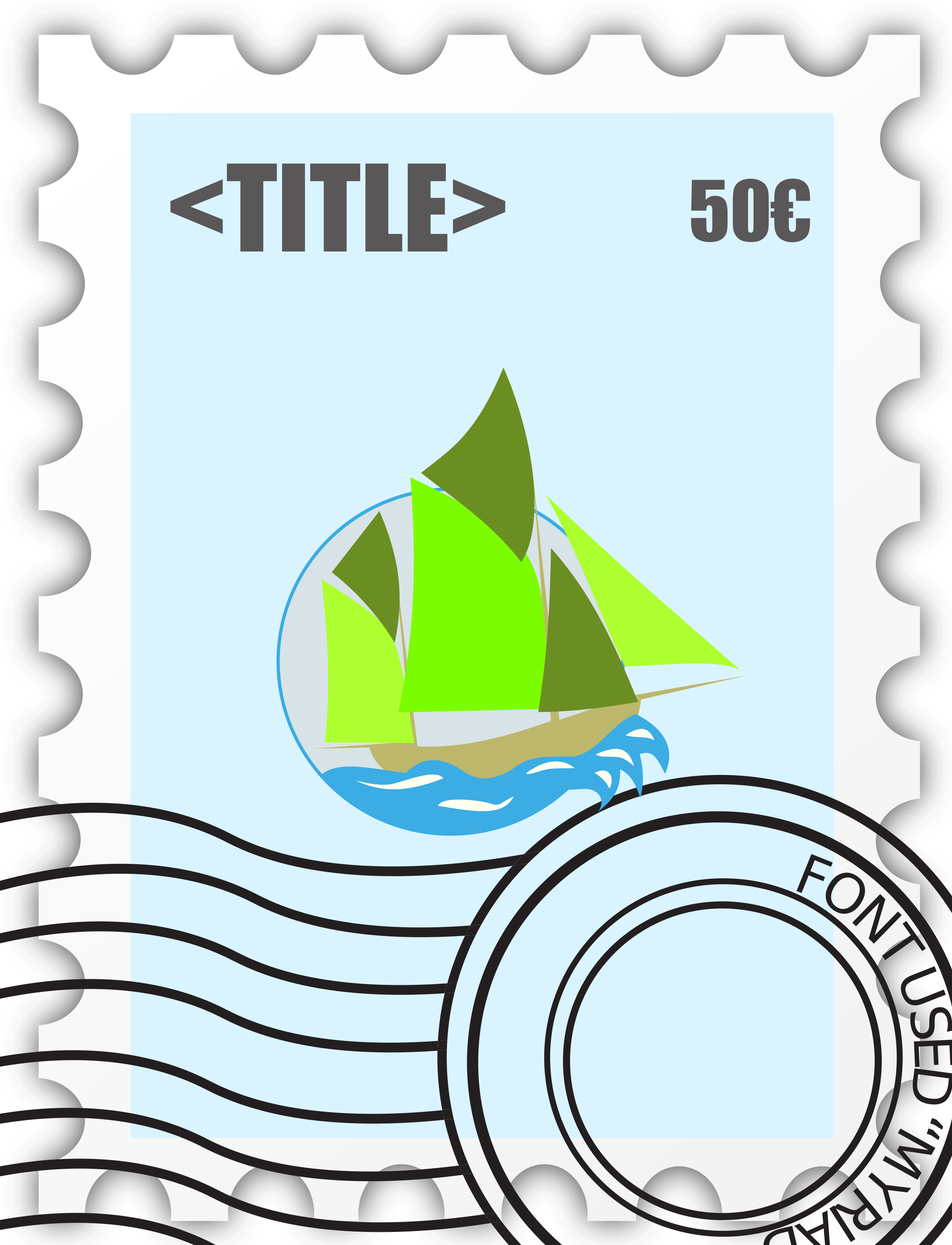 Postage Stampe template by ben