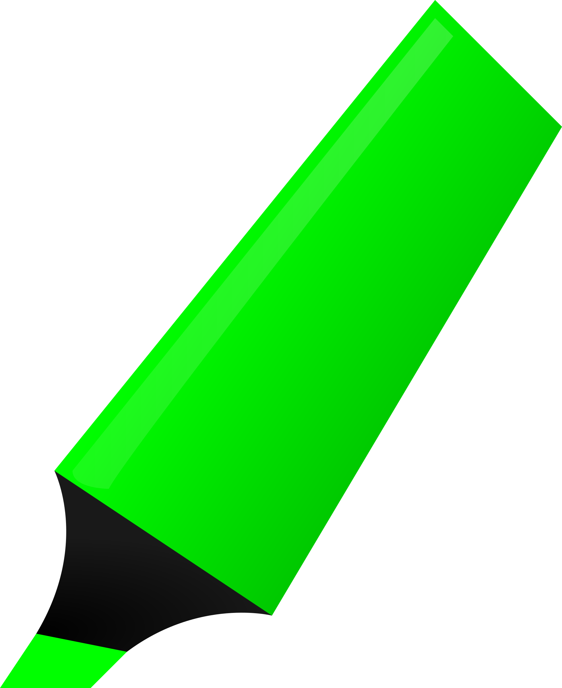 Green Highlighter by matheod