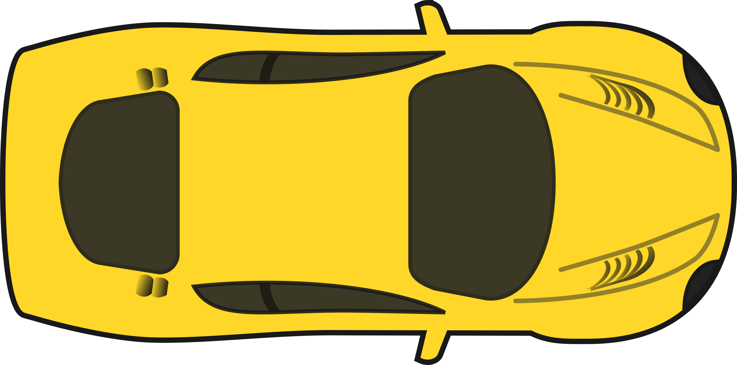 Yellow Racing Car (Top View) by qubodup