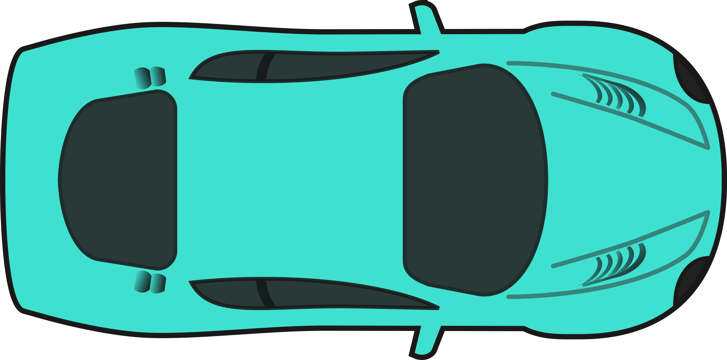 Turquois Racing Car (Top View) by qubodup