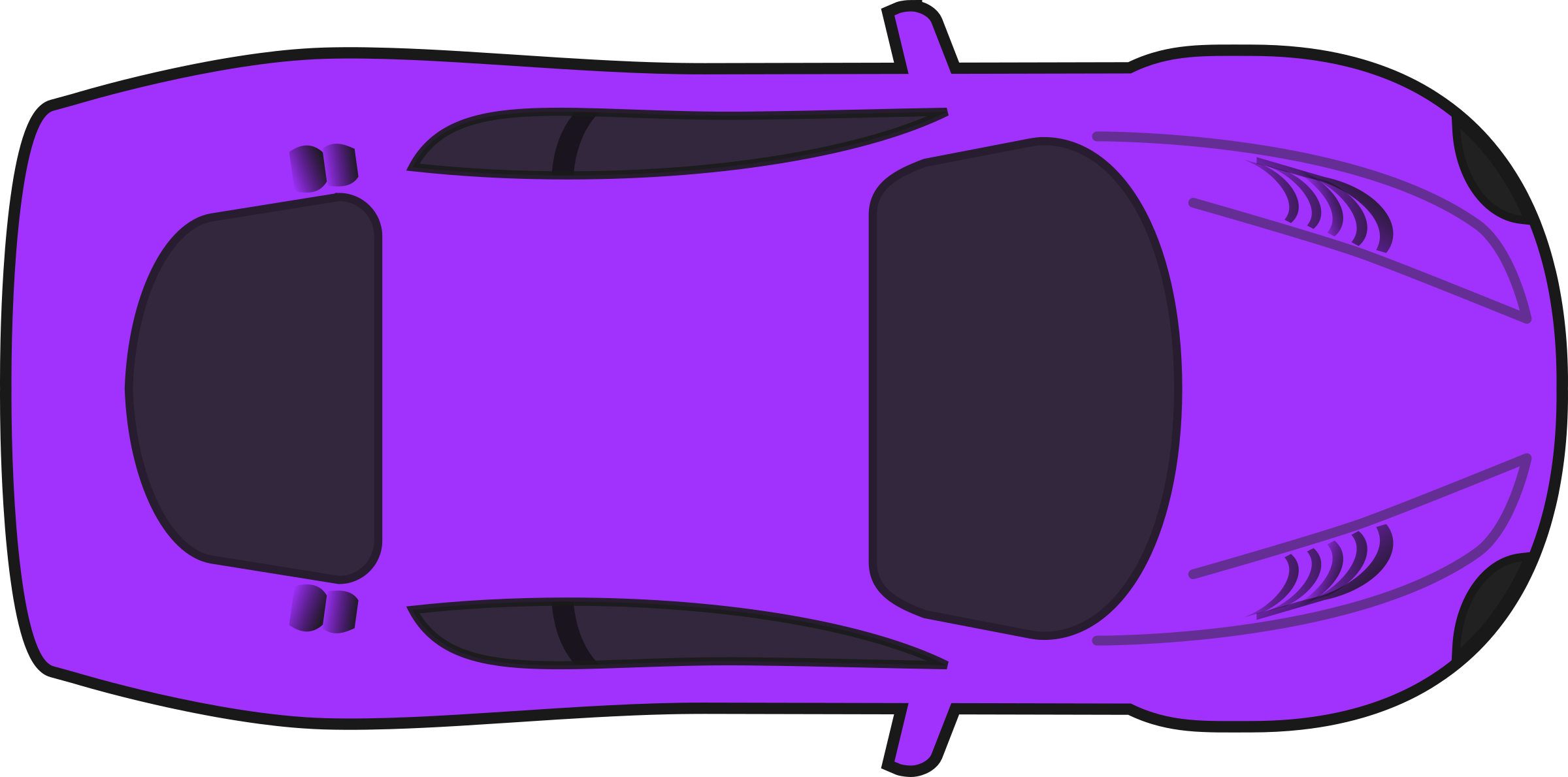 Purple Racing Car (Top View) by qubodup