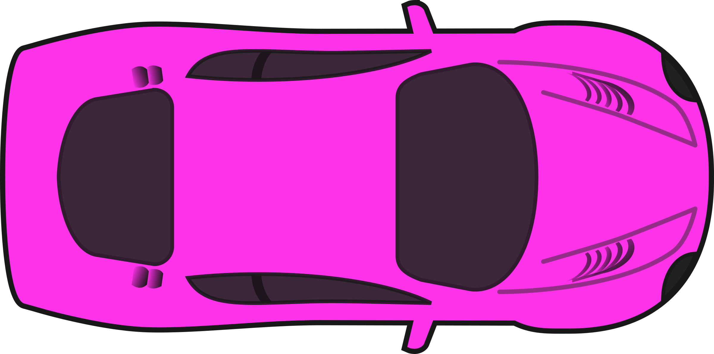 Pink Racing Car (Top View) by qubodup
