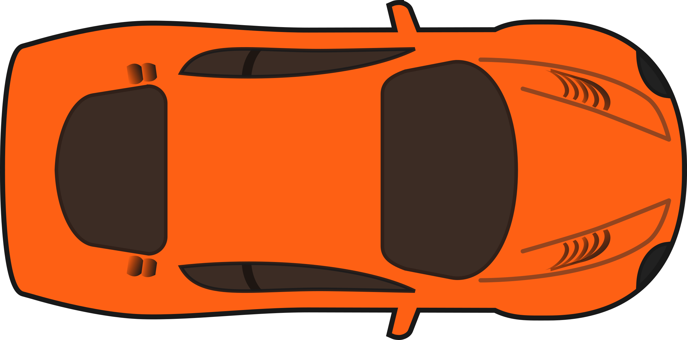 Orange Racing Car  Top View  by qubodupTruck Top View Png