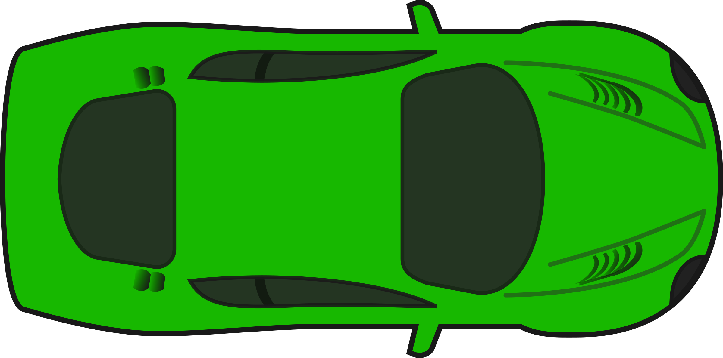 Green Racing Car (Top View) by qubodup