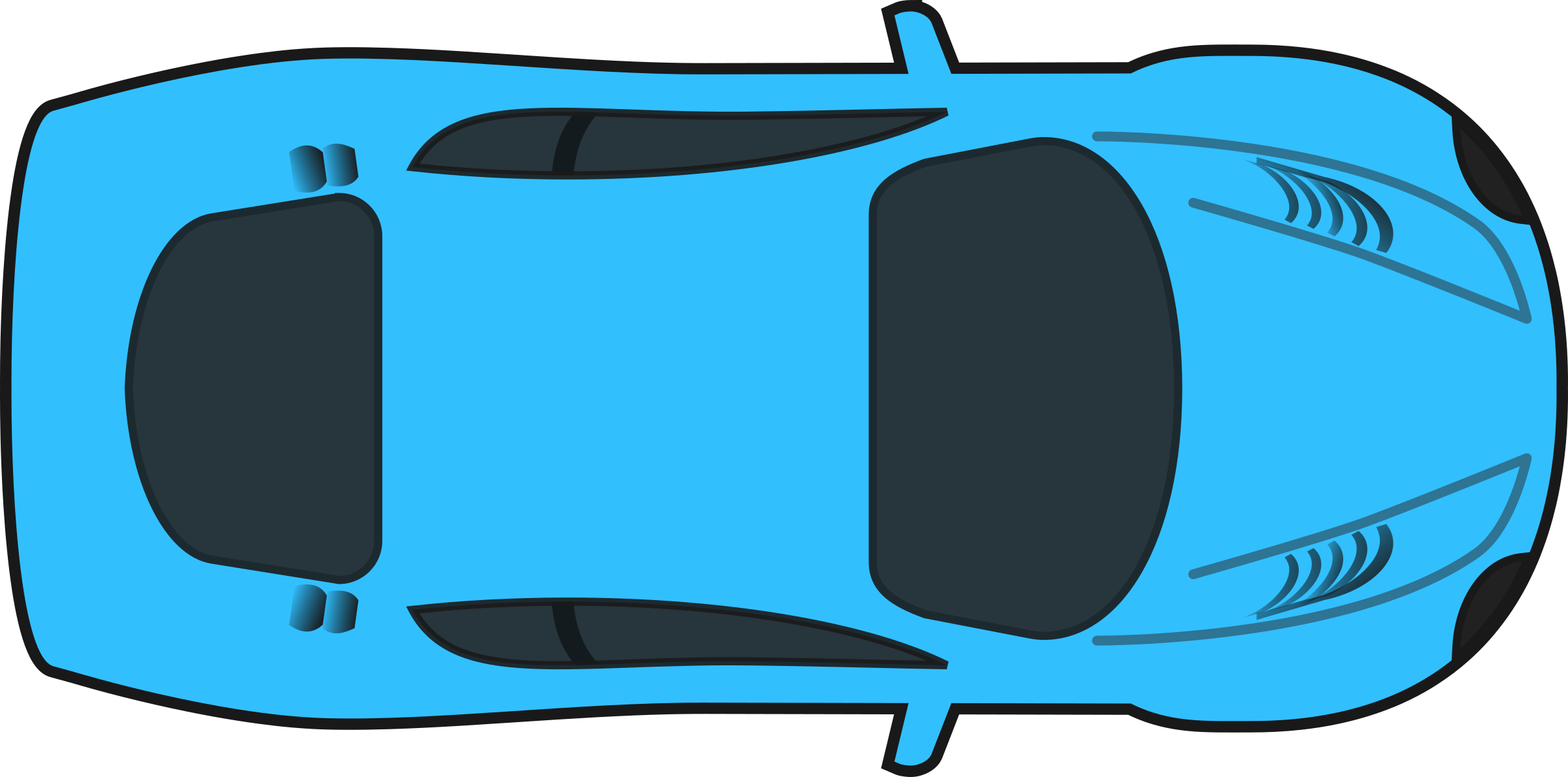 Blue Racing Car (Top View) by qubodup