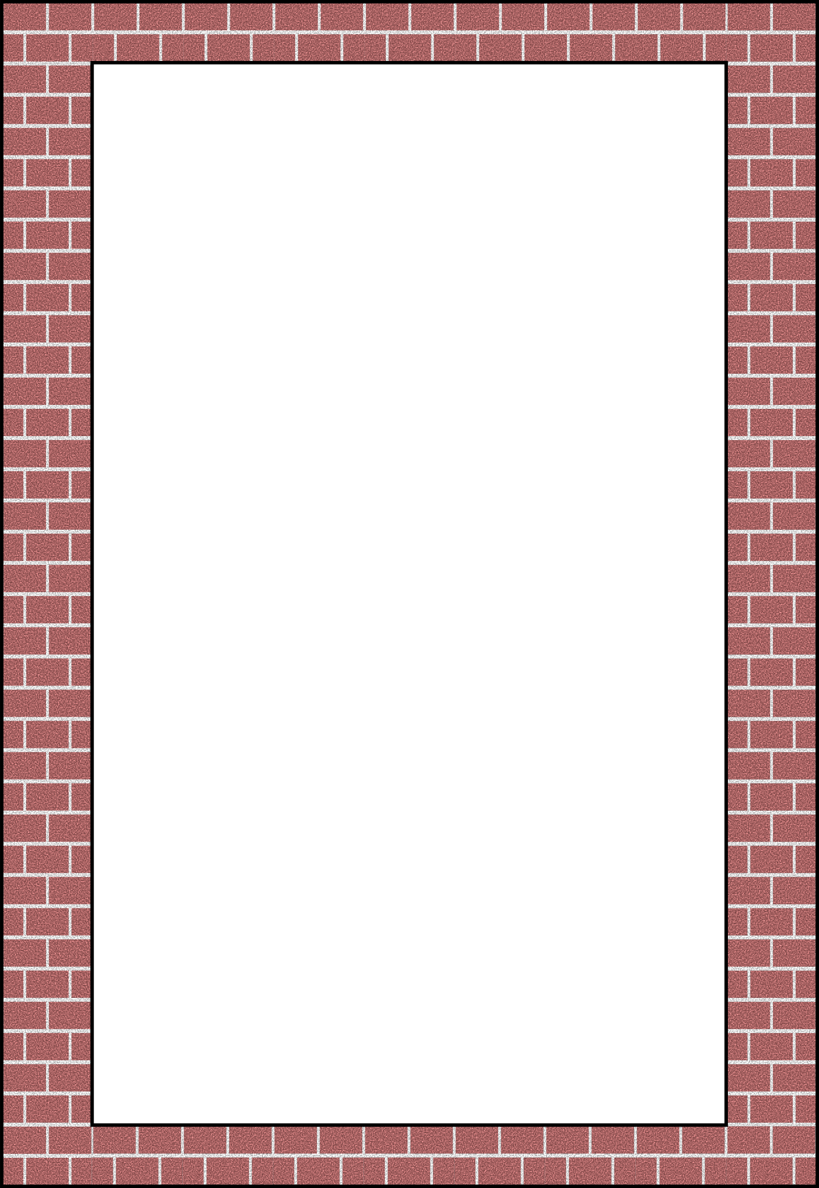 Old brick wall as a frame 01 stock photo image 18377500 - Filename Brick_border__arvin61r58 Png