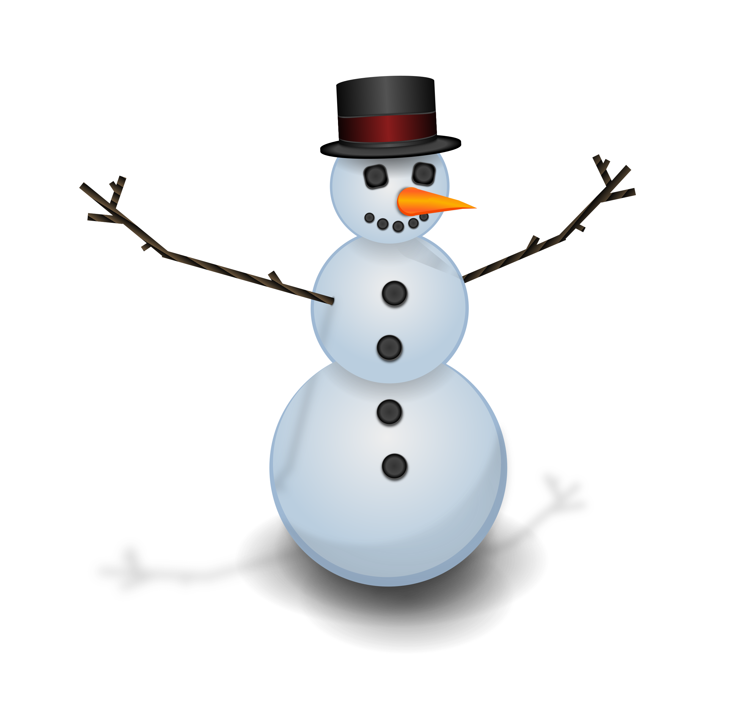 Snow man with hat by tiothy