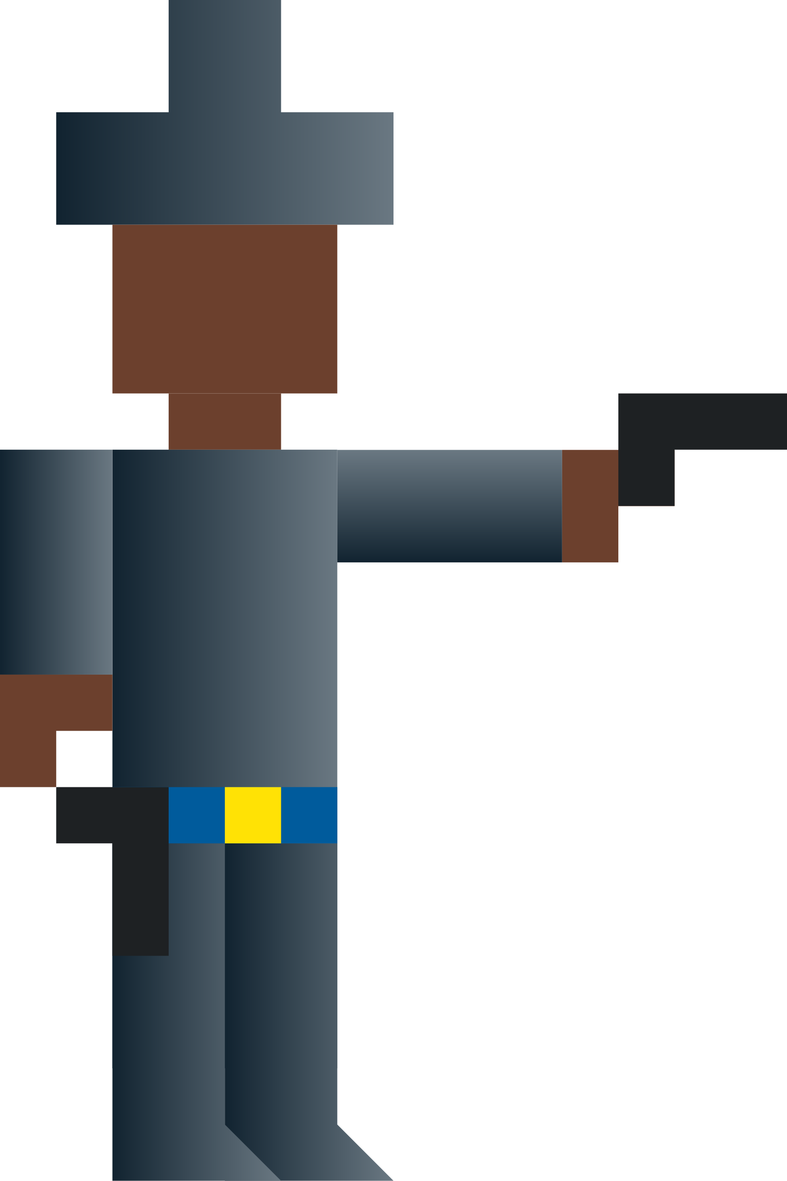Cowboy Shooting Gun (Abstract Vector Pixel Art) by qubodup