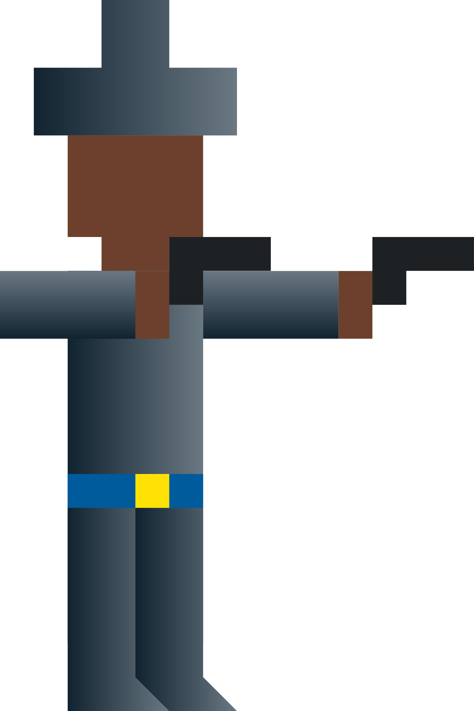Cowboy Dual-Wielding Guns (Abstract Vector Pixel Art) by qubodup