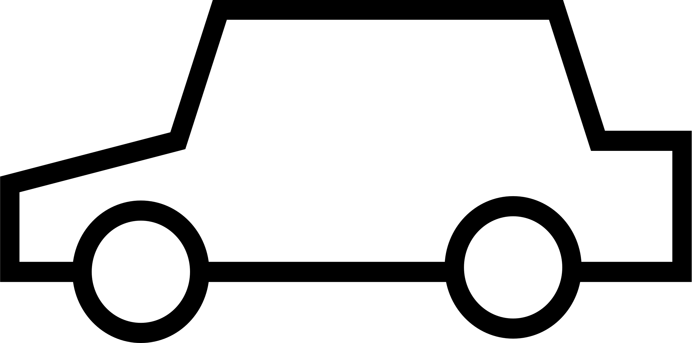 Simple car icon by klaasdc