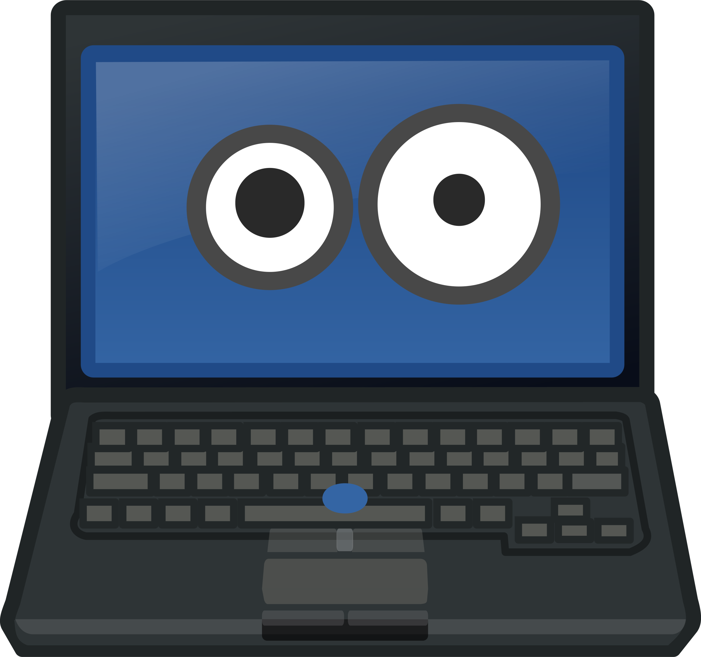 Laptop Eye Contact by qubodup