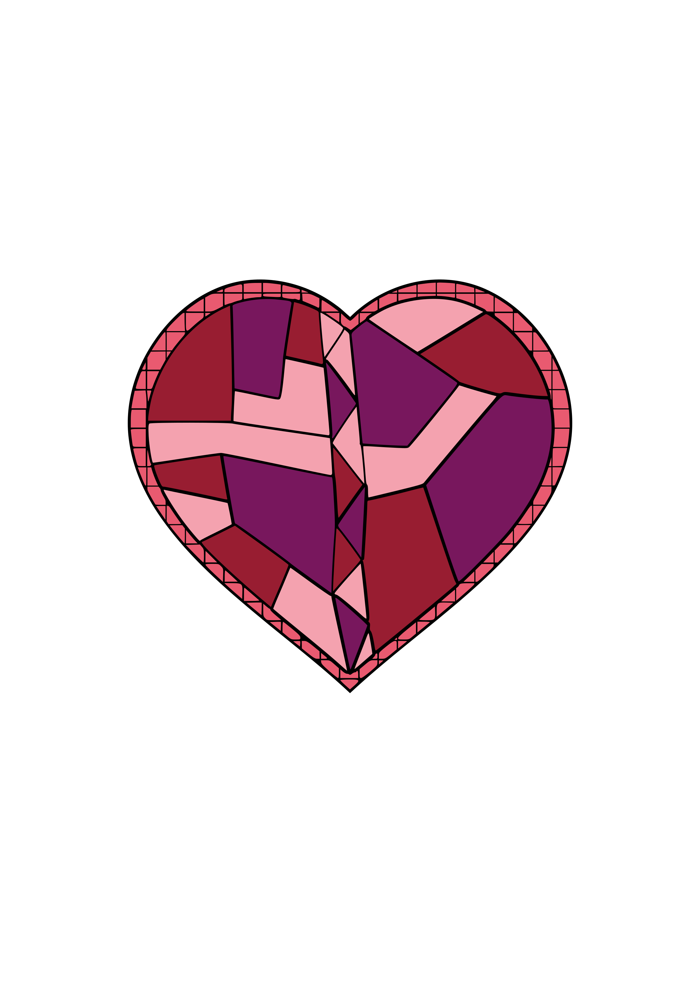 Stained Glass Heart by Animystik
