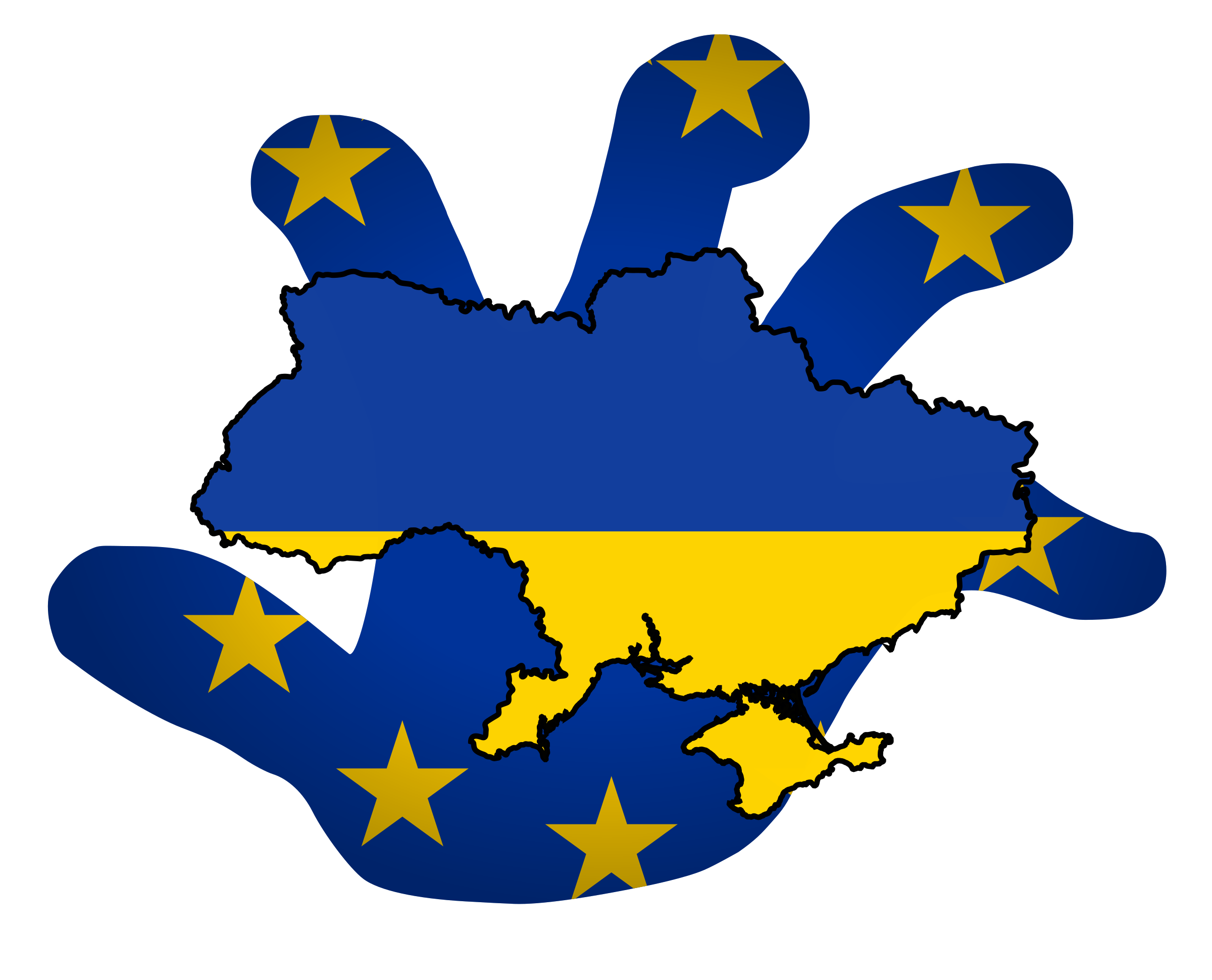 EU Ukraine by worker