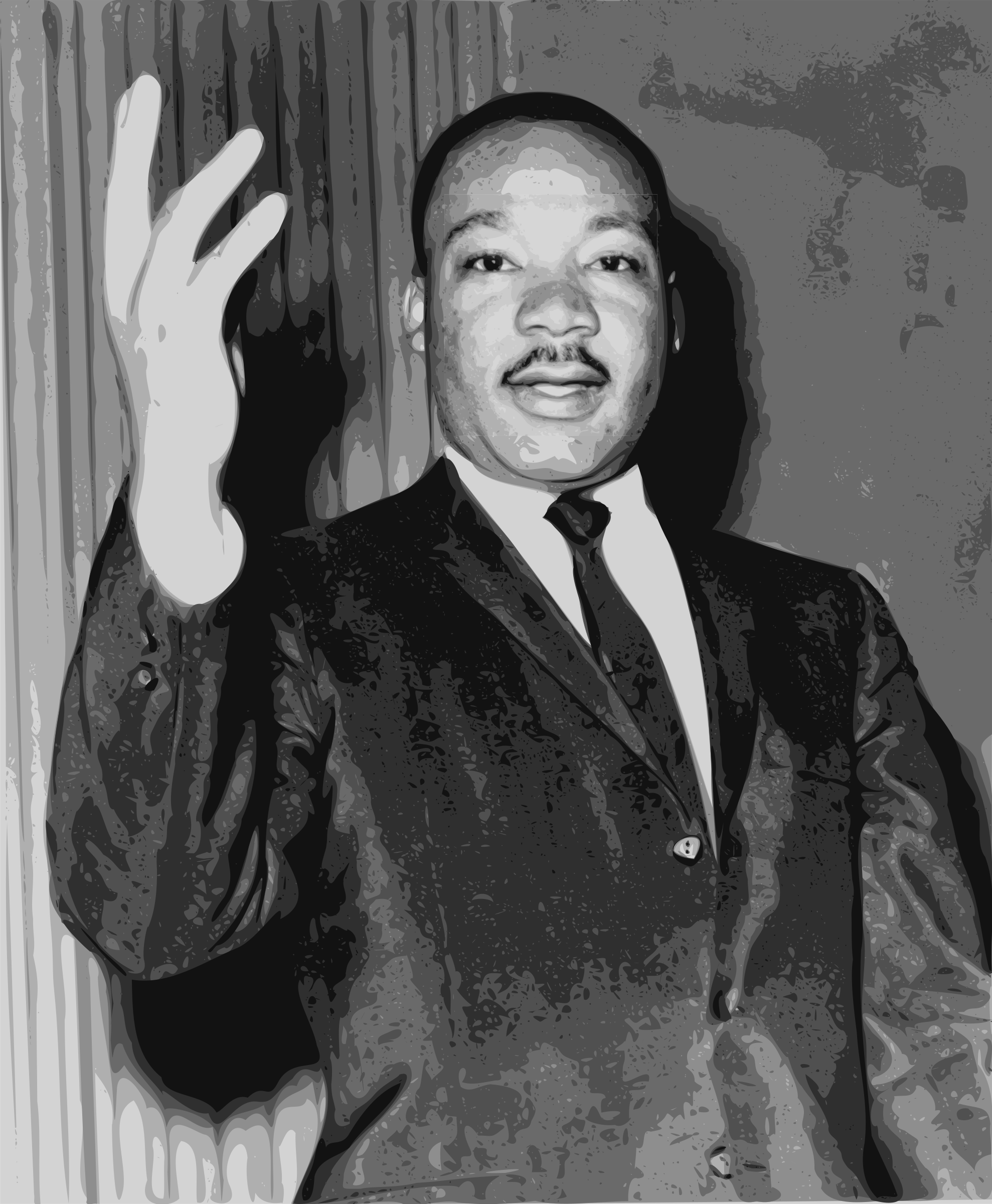 Martin Luther King Jr. Speaking by j4p4n